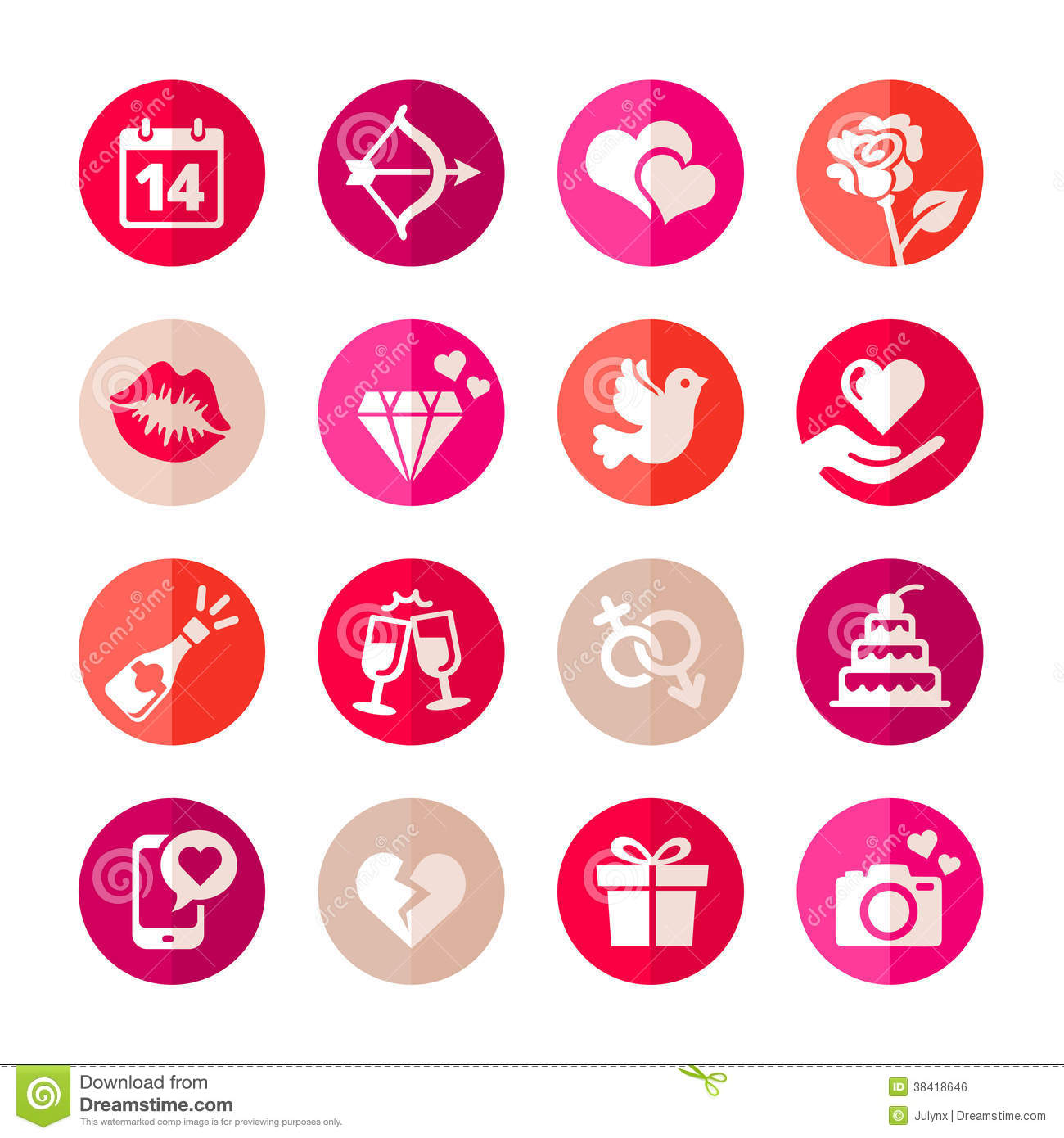Romantic Icon Set Royalty Free Stock Image Image 38418646