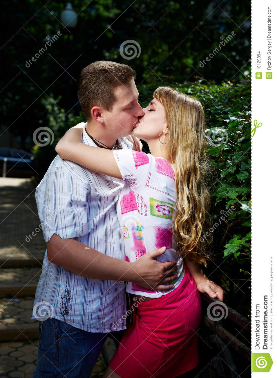 image Romantic couple closeup with a creamy climax
