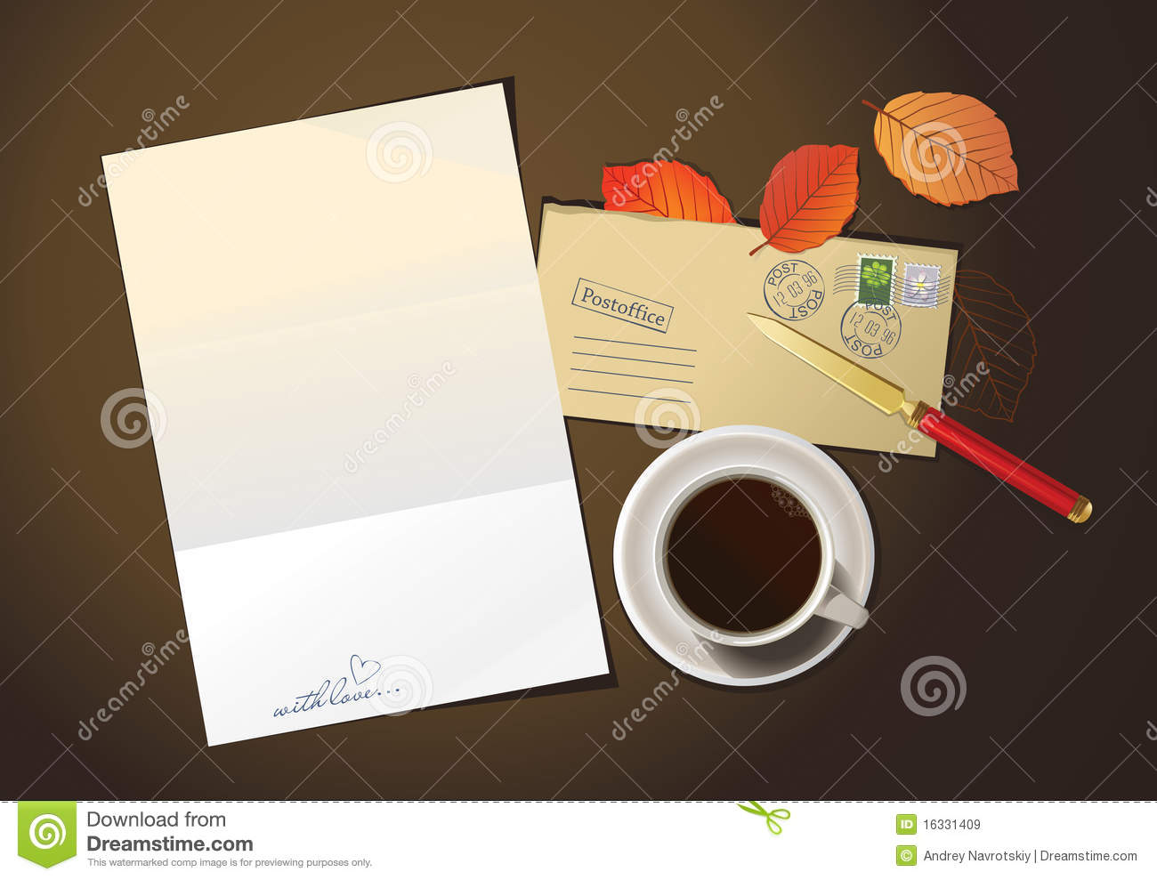 Romantic Letter And Cup Of Coffee Royalty Free Images – Romantic Letter