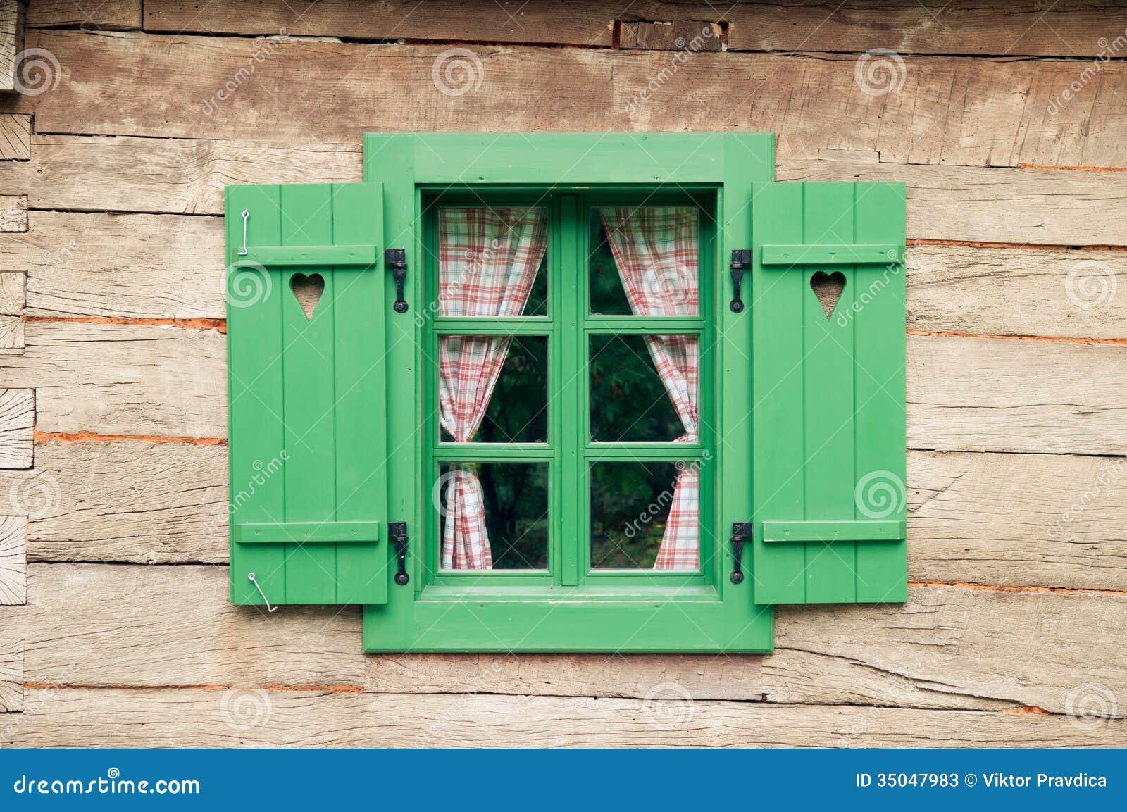Romantic Log Cabin Stock Image Image Of Frame Shutter