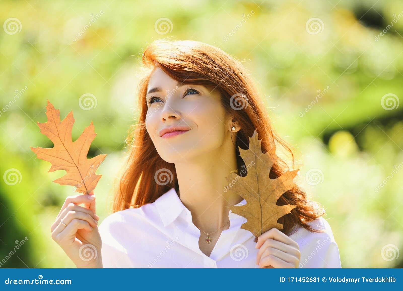 Romantic Looking Cute Girl Walking Outdoor Pretty Woman Playing