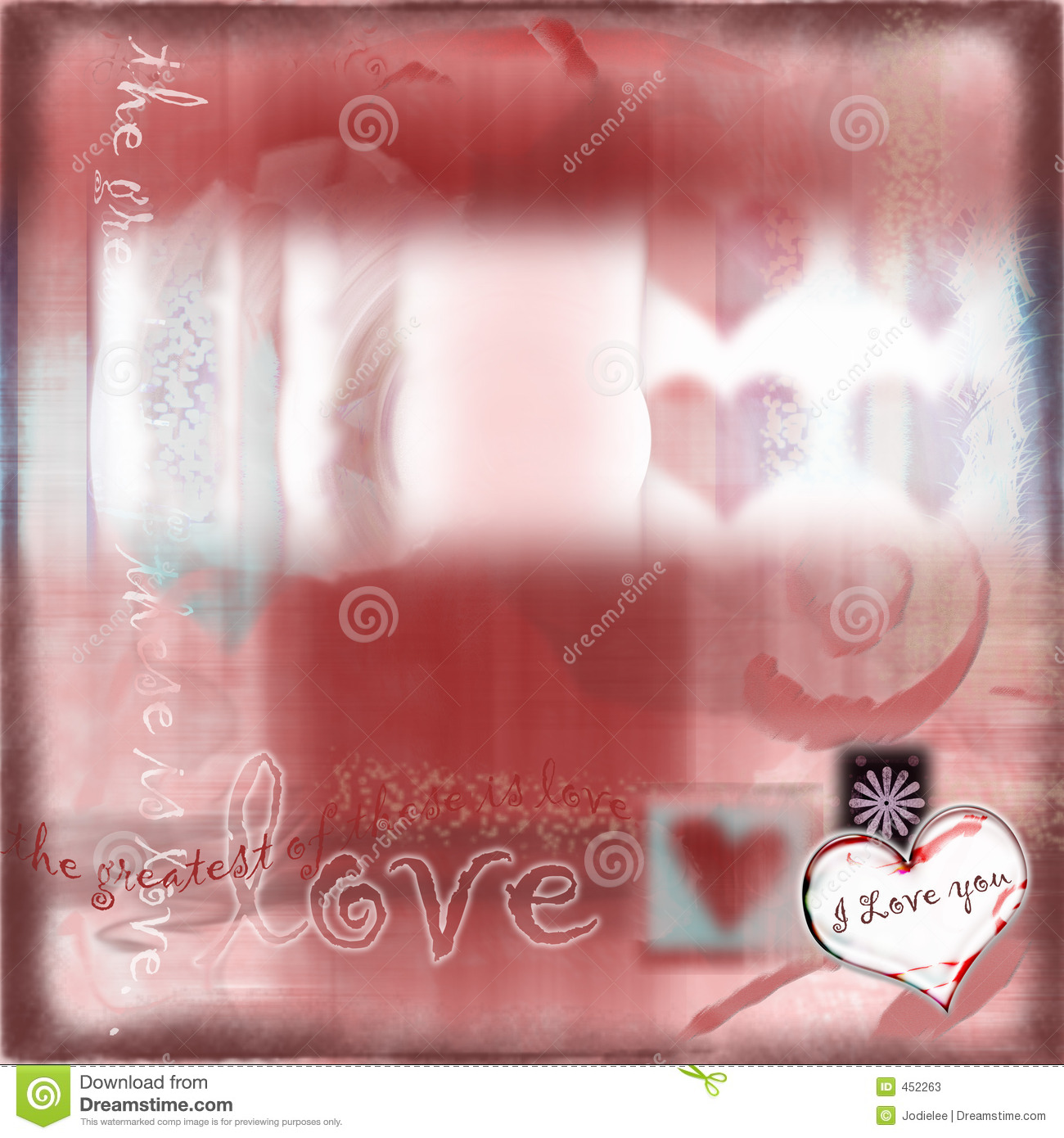 Download Romantic Love Abstract Background Stock Illustration - Illustration of glitter, scrapbooking: 452263