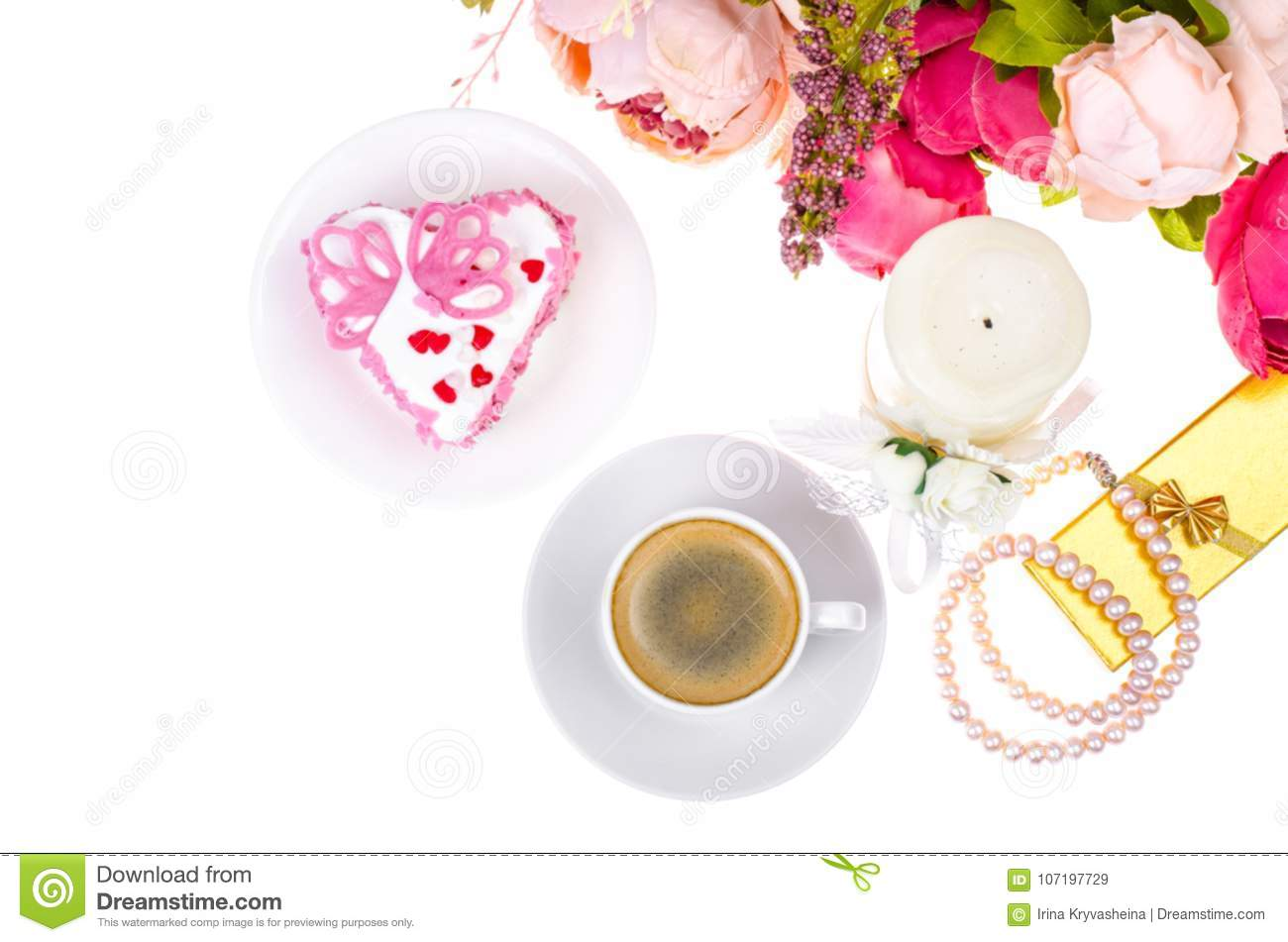 Romantic lunch with gift for Valentine`s Day