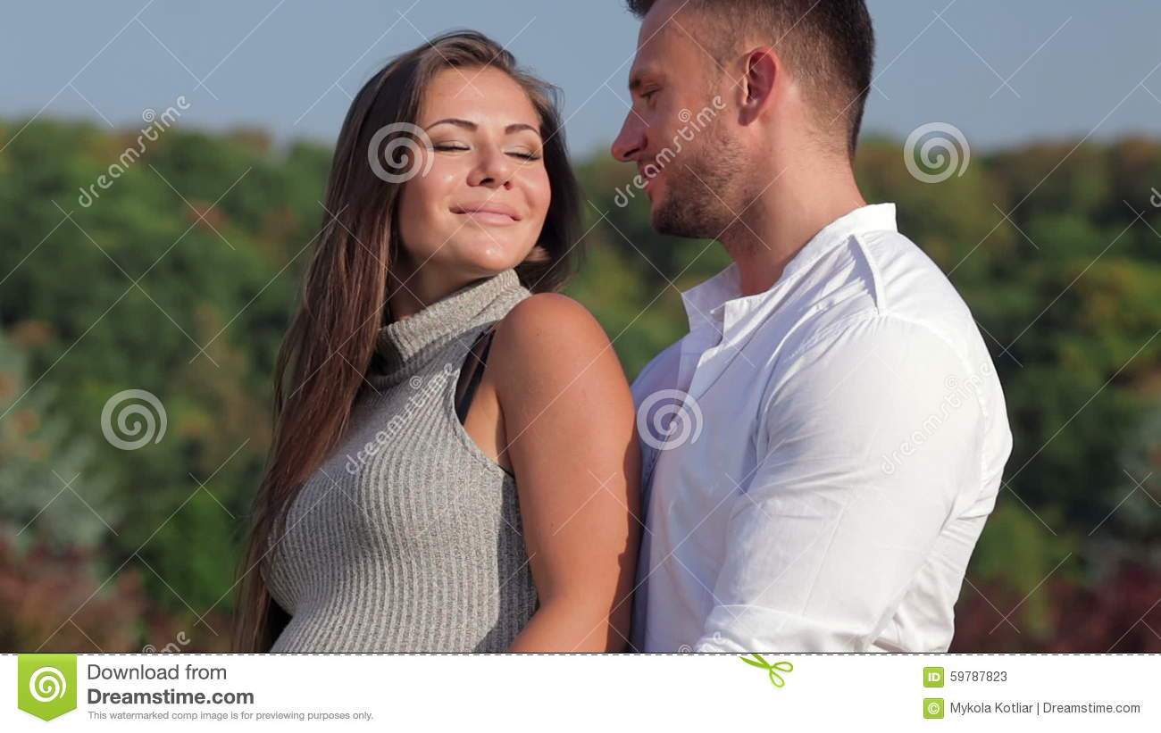 Romantic Moments For Pregnant Couple Stock Video Video Of Love Father 59787823