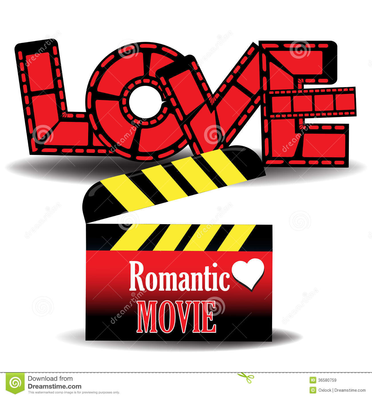 Romantic movie stock vector. Illustration of abstract ...