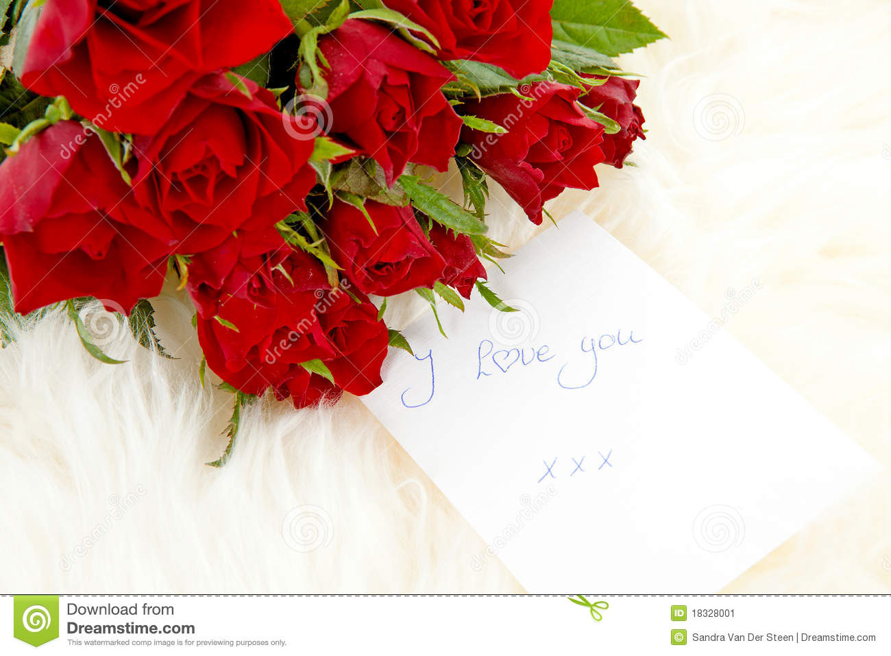 romantic note with red roses stock image  image, Beautiful flower