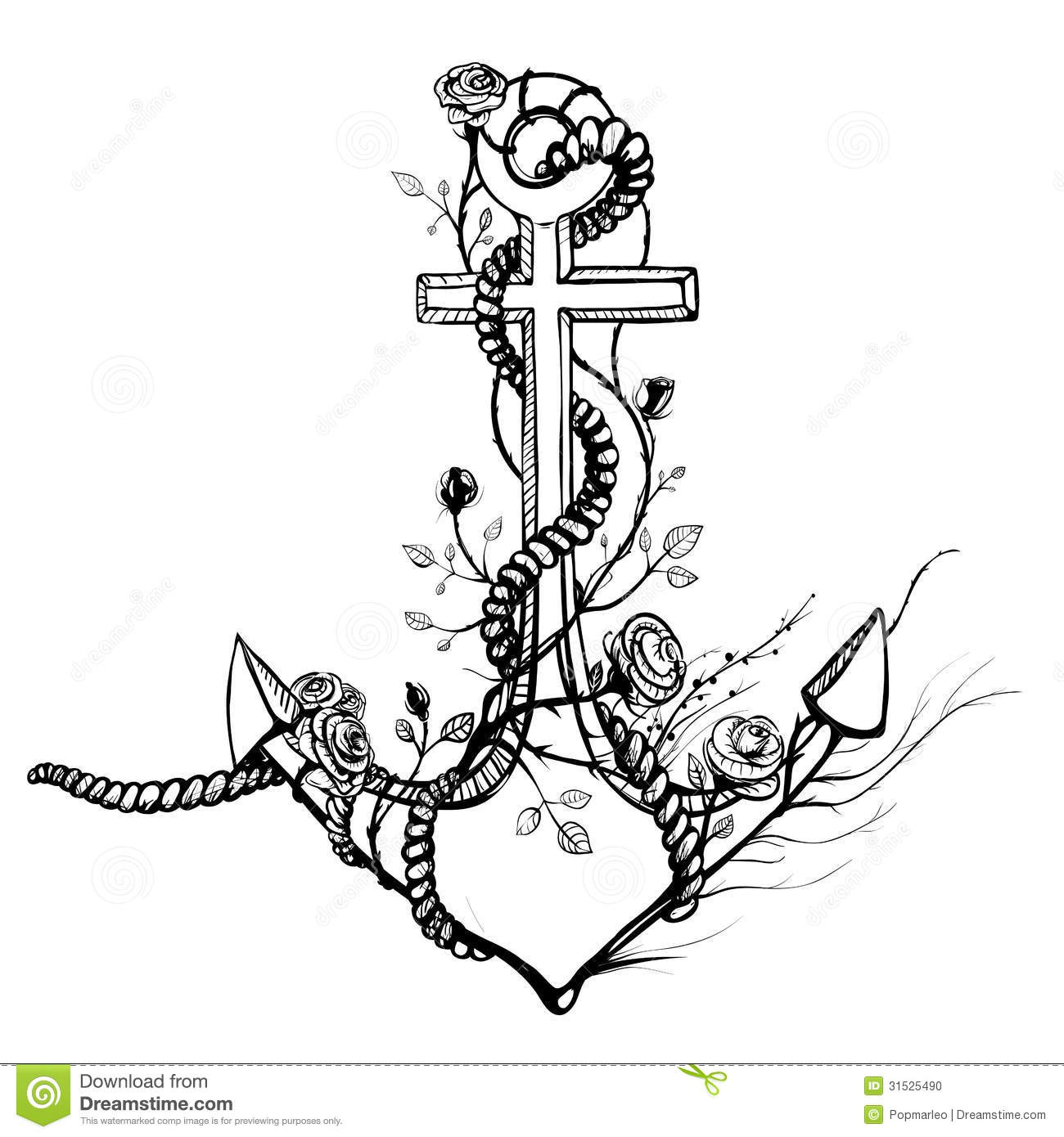 Romantic Old Anchor With Roses Black Ink Stock Vector ...Old Black And White Romantic Photos