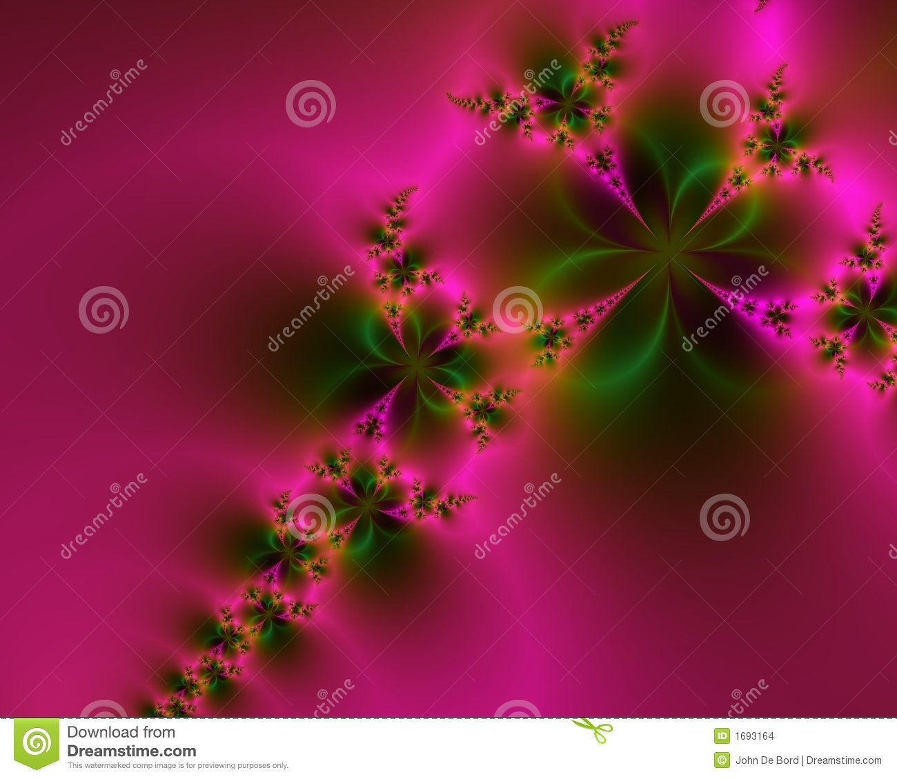 Romantic Pink and Green Abstract