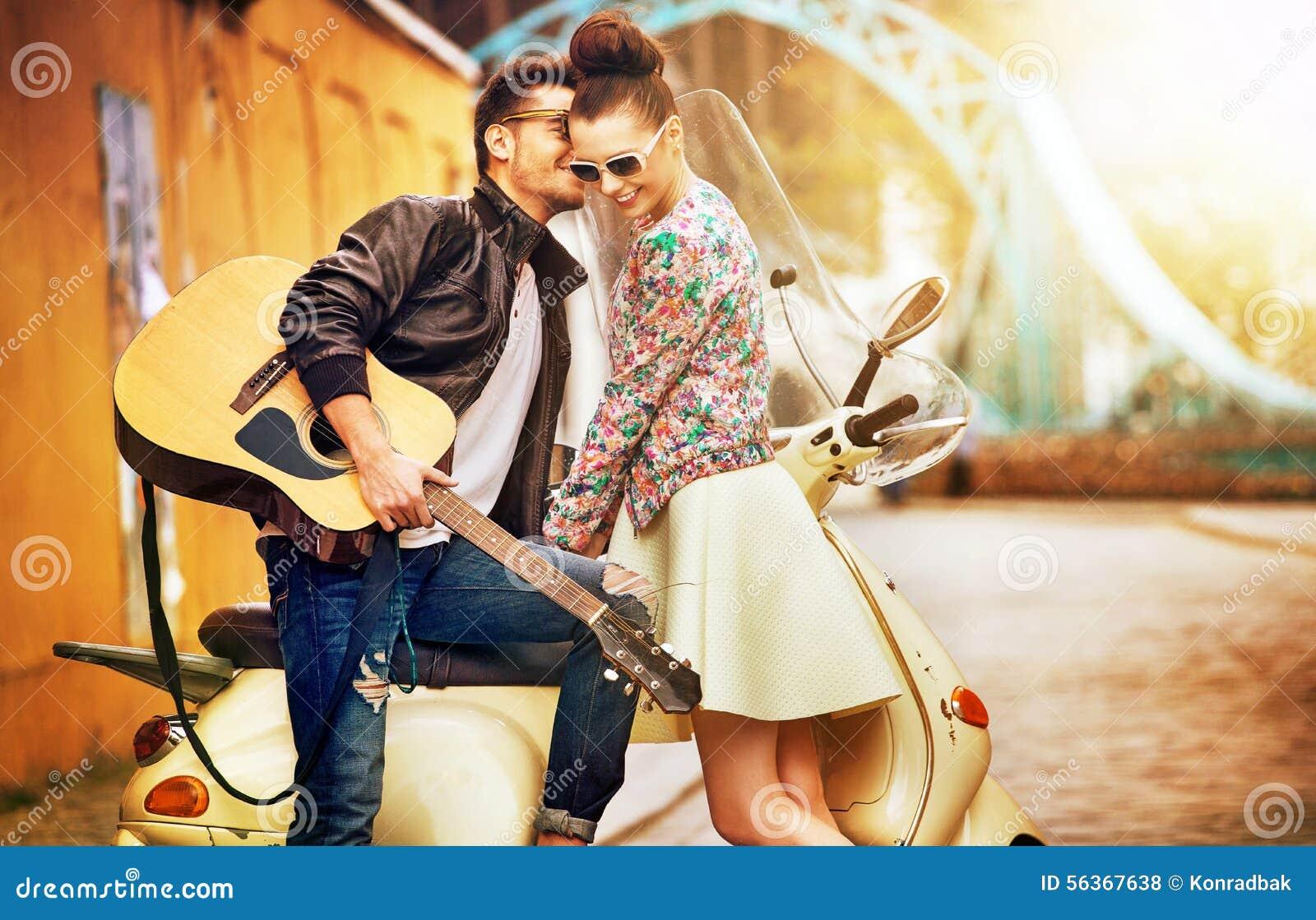 Romantic Portrait Of People In Love Stock Photo - Image ...