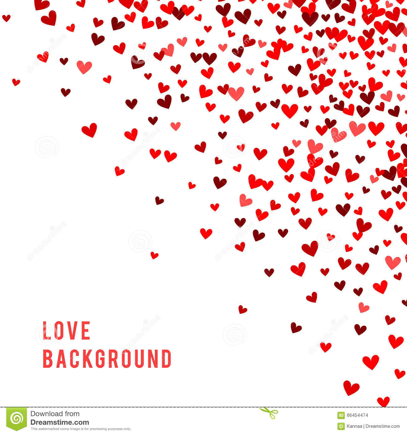 romantic red background vector illustration stock vector