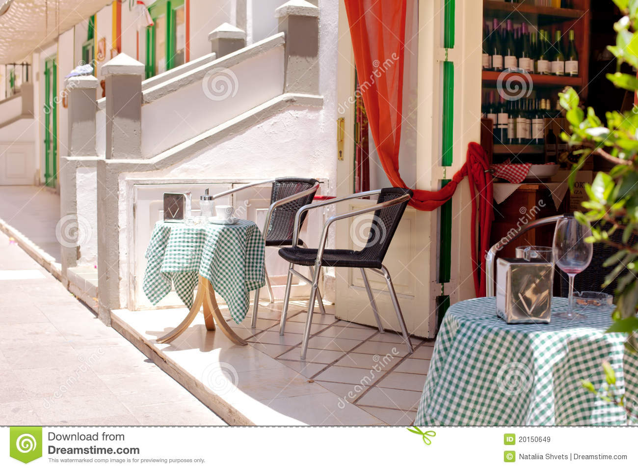 Romantic restaurant - table and chairs