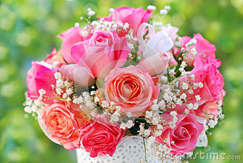 Romantic rose bouquet for wedding stock photo image 57397652 - Bouquet de rose artificielle ...
