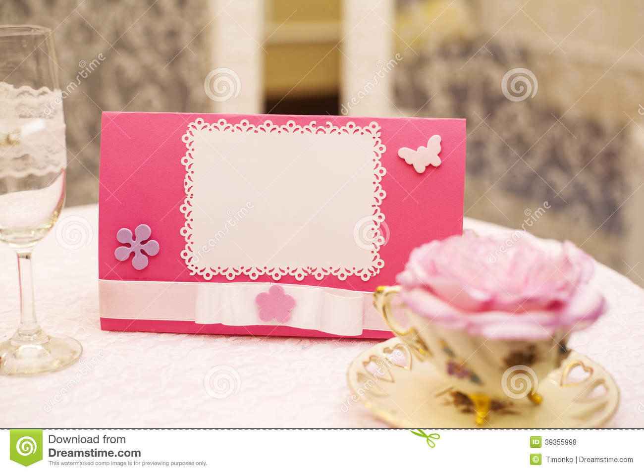 Romantic Scrapbooking With Your Text For Invitation Stock Photo ...