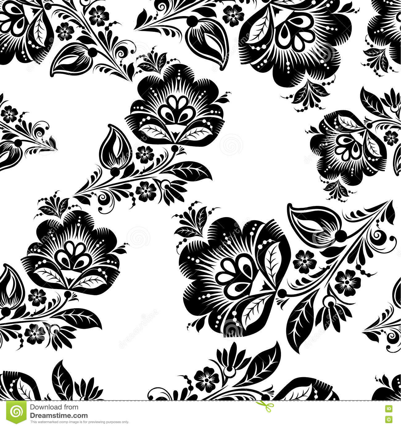 romantic seamless floral pattern  stock vector