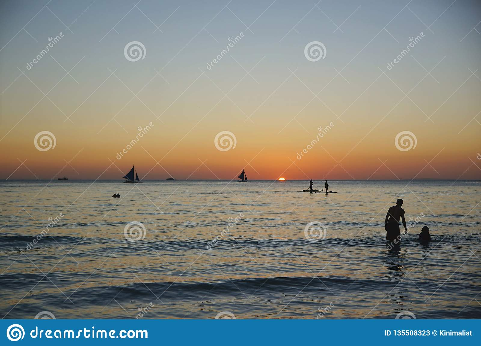 Romantic Sunset Beach Travel For Honeymoon Vacation Fun Summer In