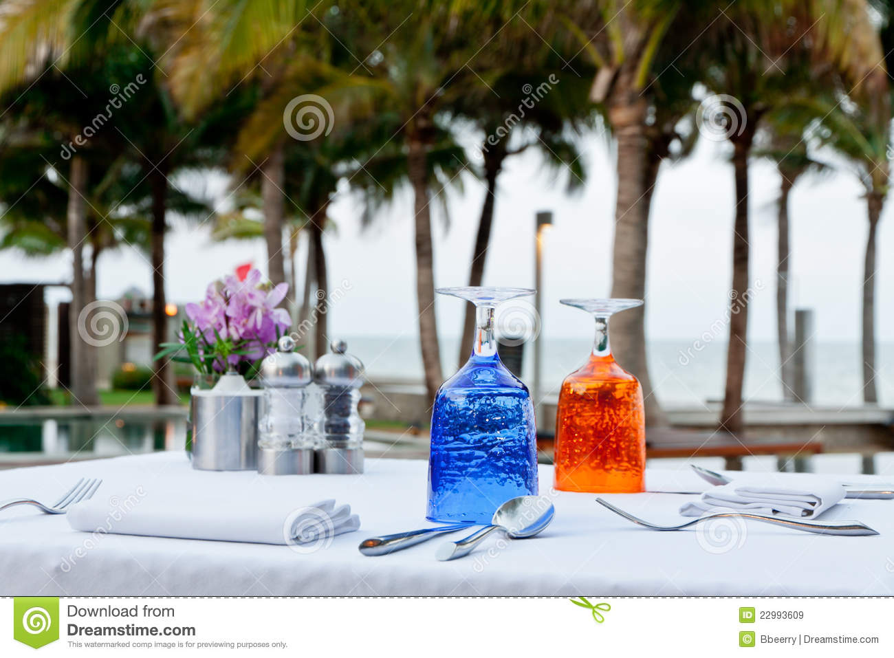 Romantic Table Set Up Royalty Free Stock Images Image