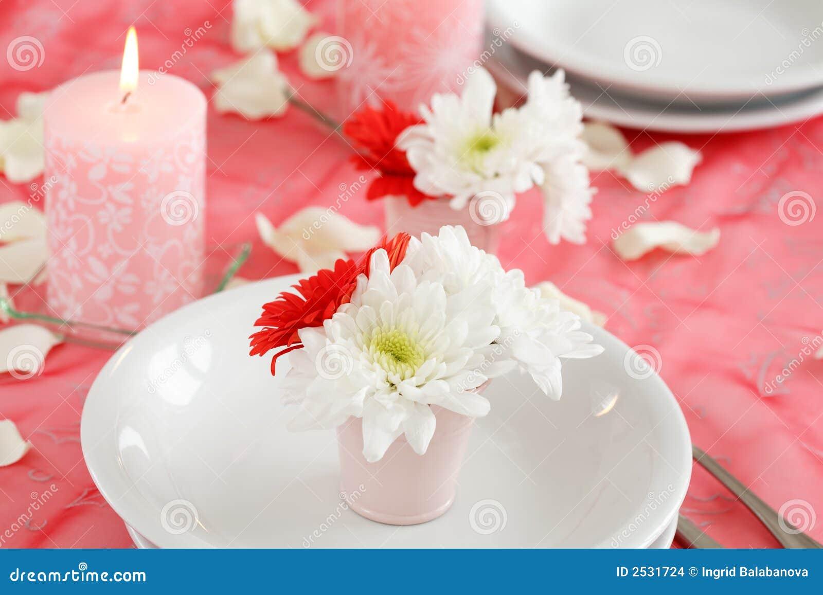 Romantic Table Setting Stock Photo Image Of Love Symbol