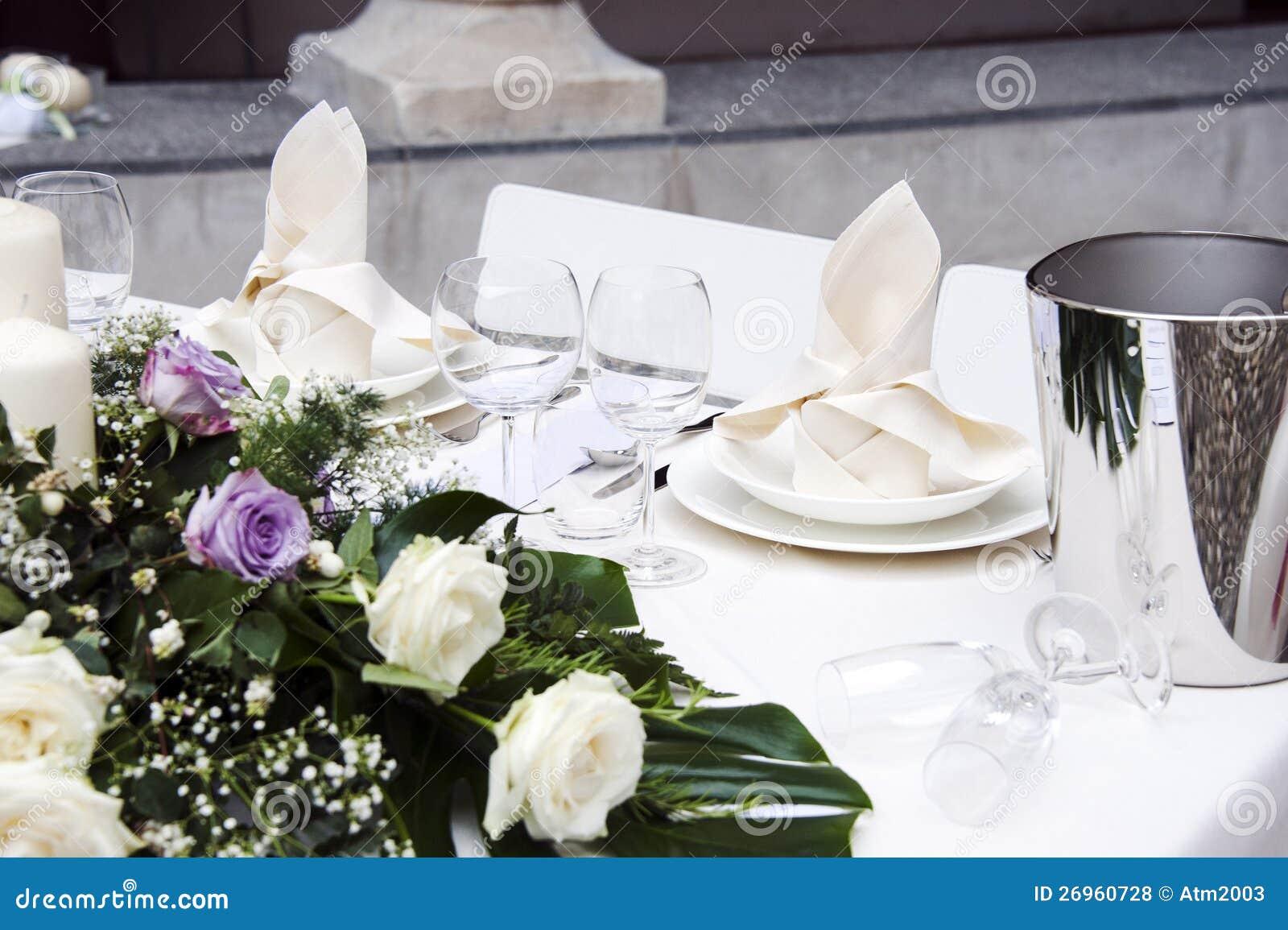 Romantic Table Setting Royalty Free Stock Photos Image