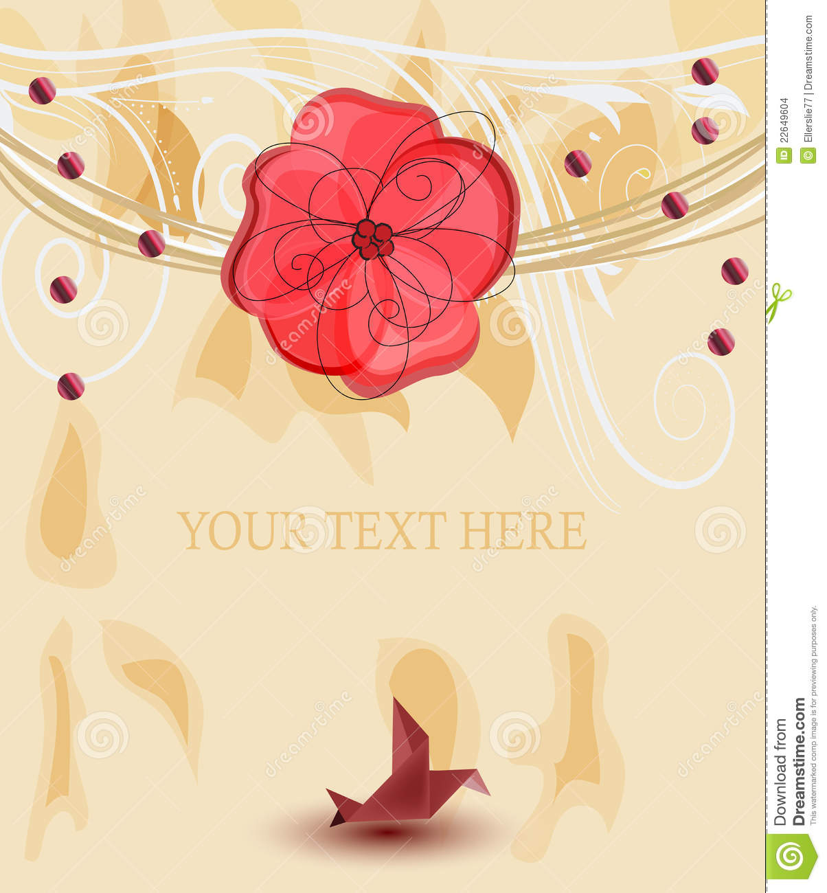 Romantic template for invitation card stock vector illustration of romantic template for invitation card stopboris Image collections