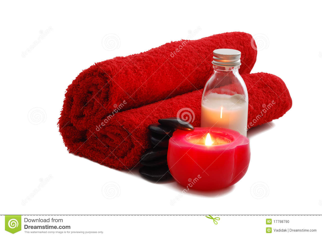 Romantic Valentine Day SPA Set With Candle Stock Photo - Image ...