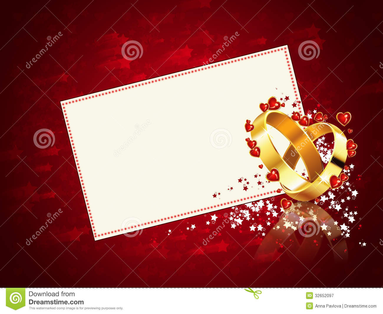 Romantic Wedding Card Royalty Free Stock Photography - Image: 32652097