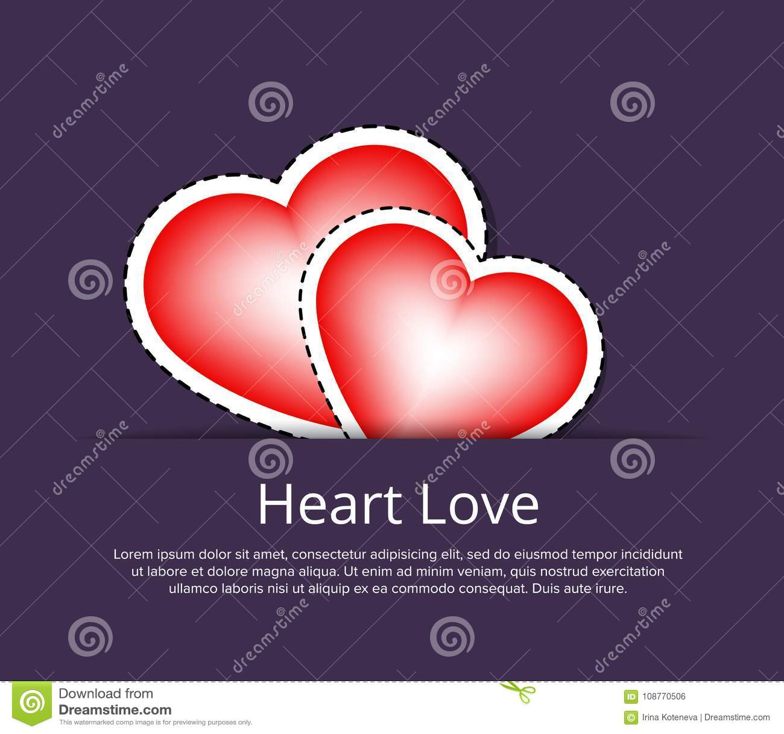 Romantic Wedding Invitation Card Template Stock Vector ...