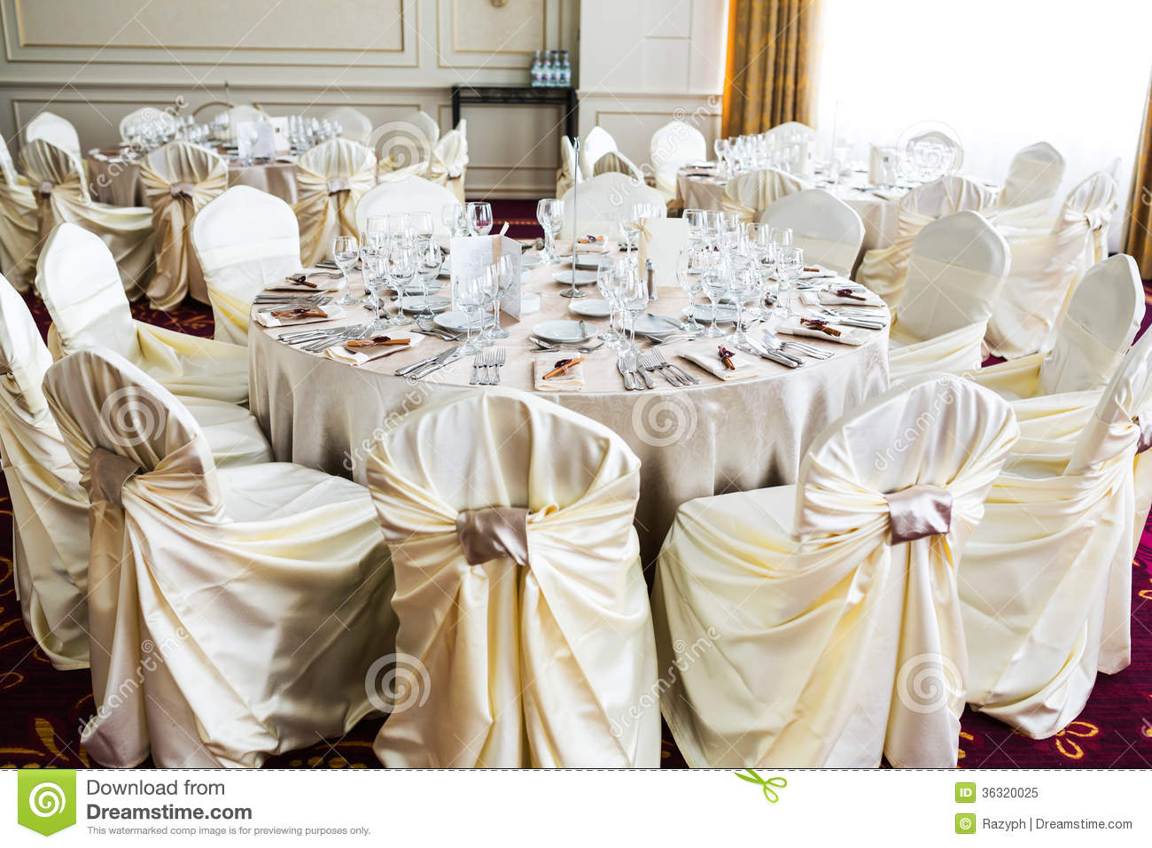Romantic Wedding Setting Royalty Free Stock Photo Image