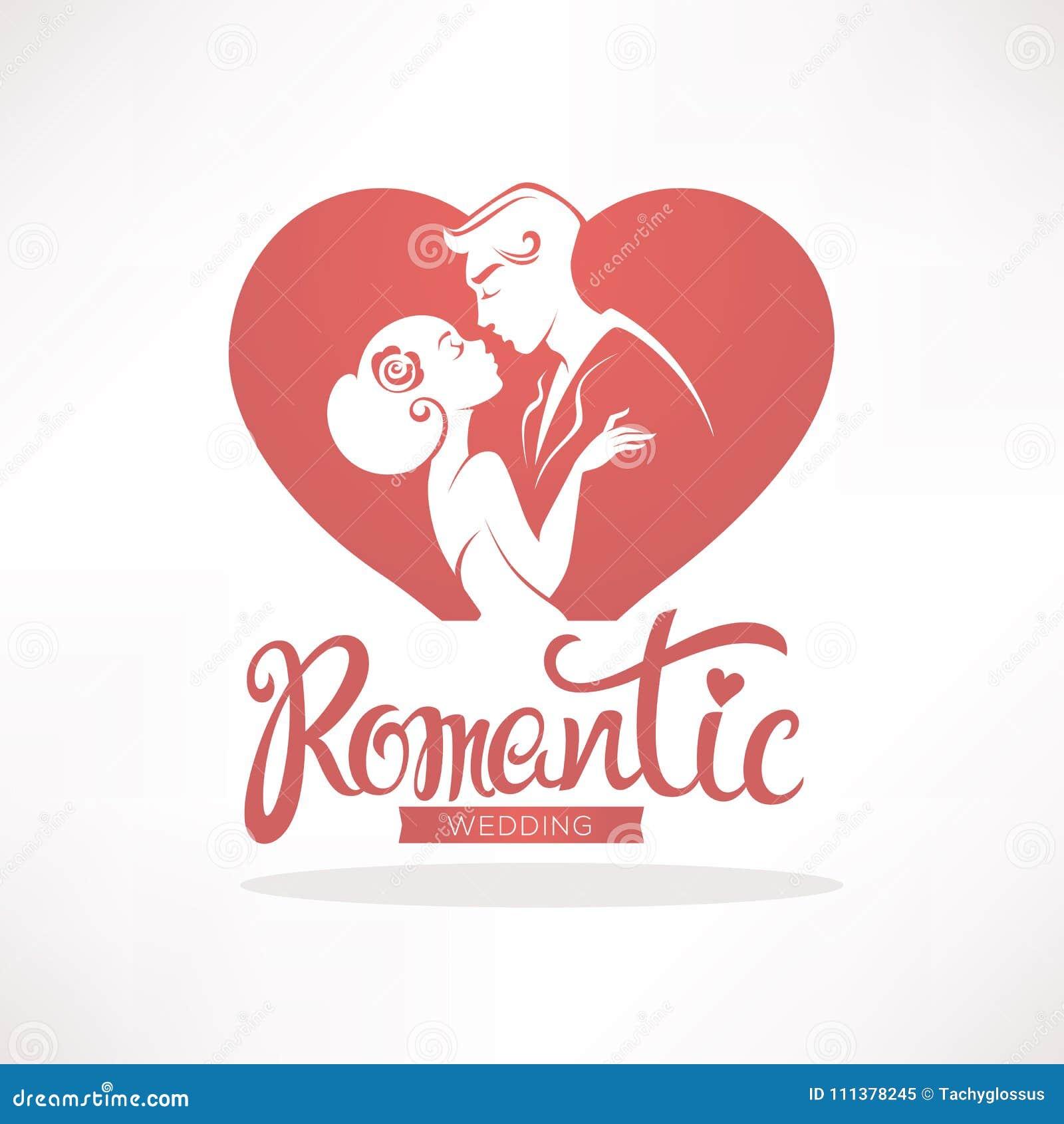 Romantic Wedding, Vector Logo, Emblem, Sticker For Your Wedding ...