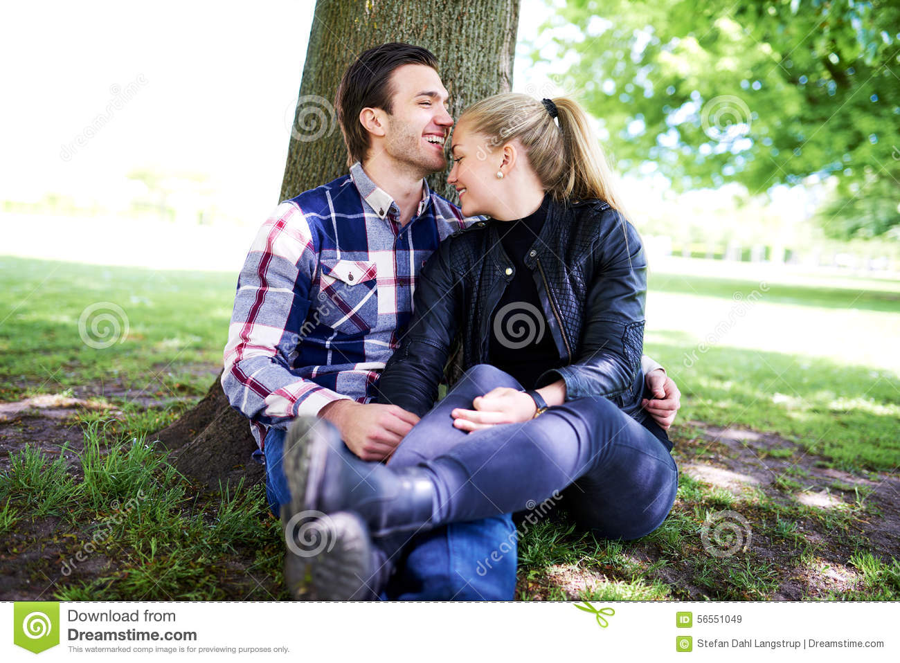 Romantic young couple enjoying an intimate moment