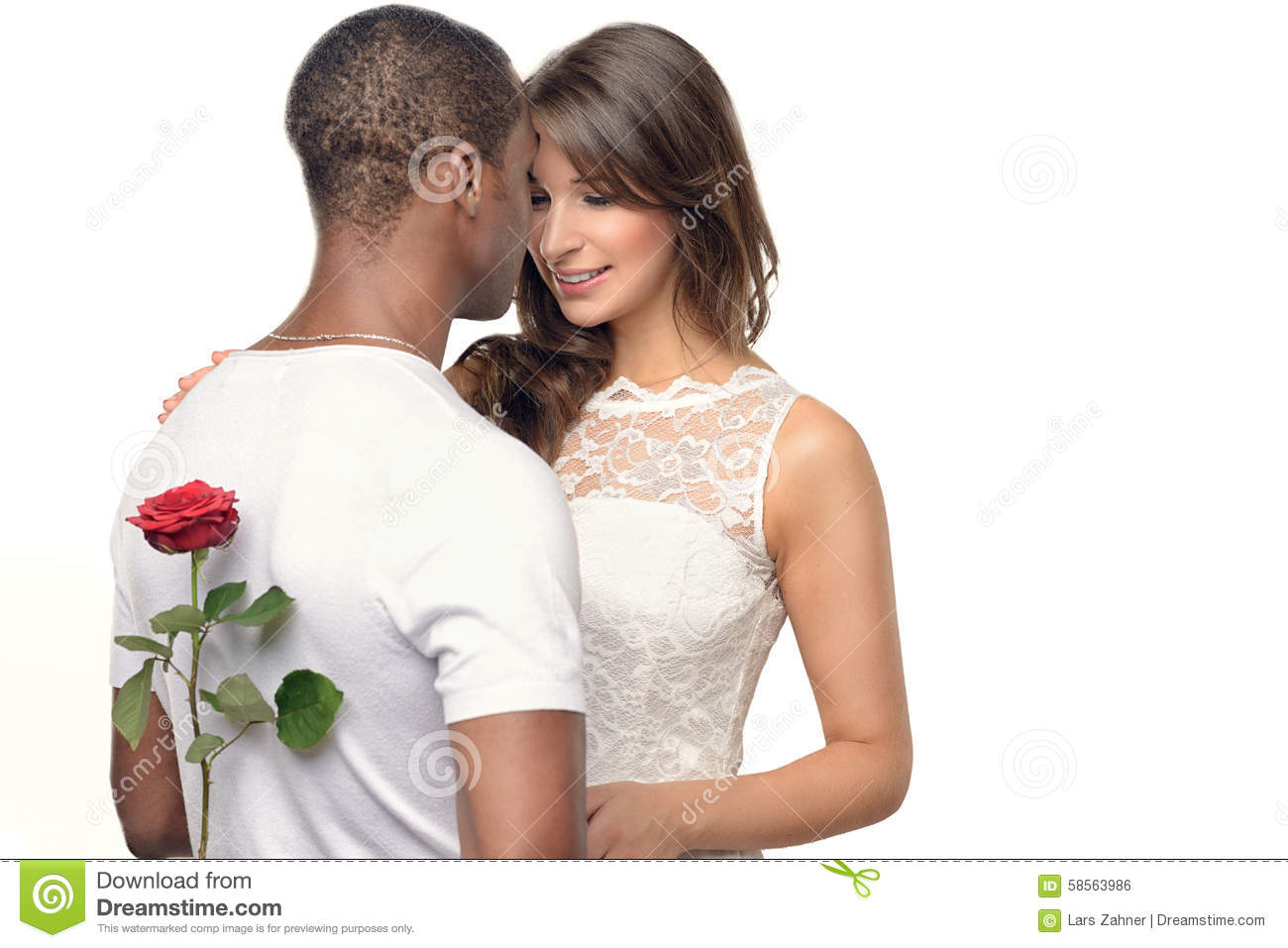 Romantic Young Man With A Pretty Woman Stock Photo Image