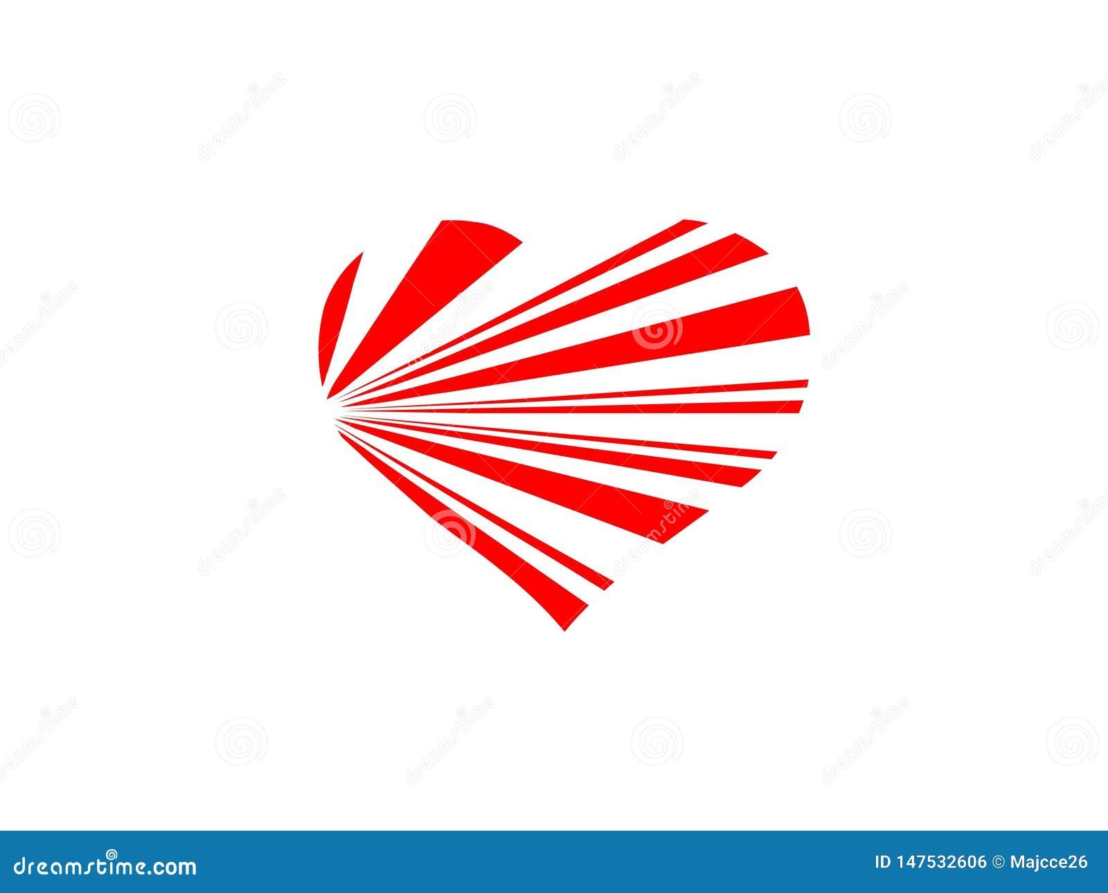 Romantico romanzesco del cuore dell estratto bianco rosso del fondo