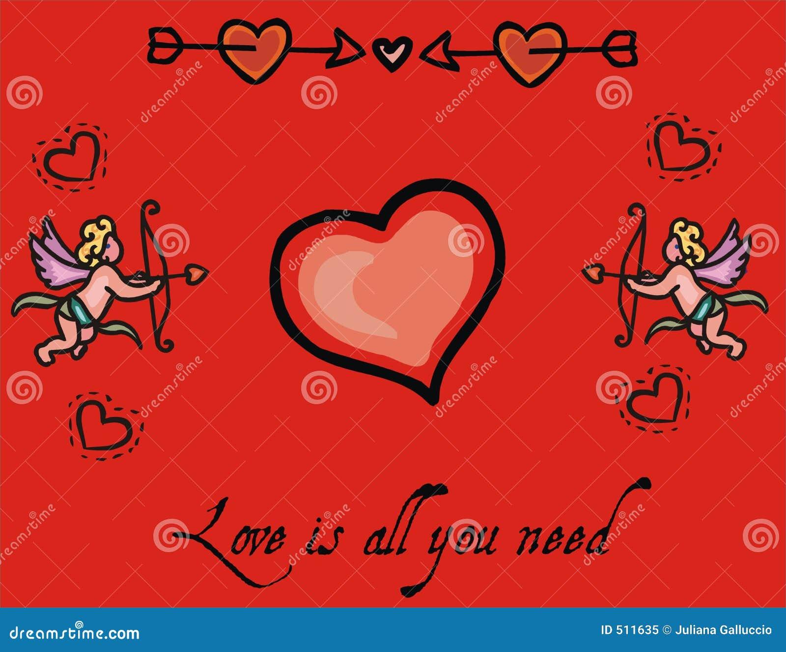 Romantiker för bakgrundshjärtaförälskelse