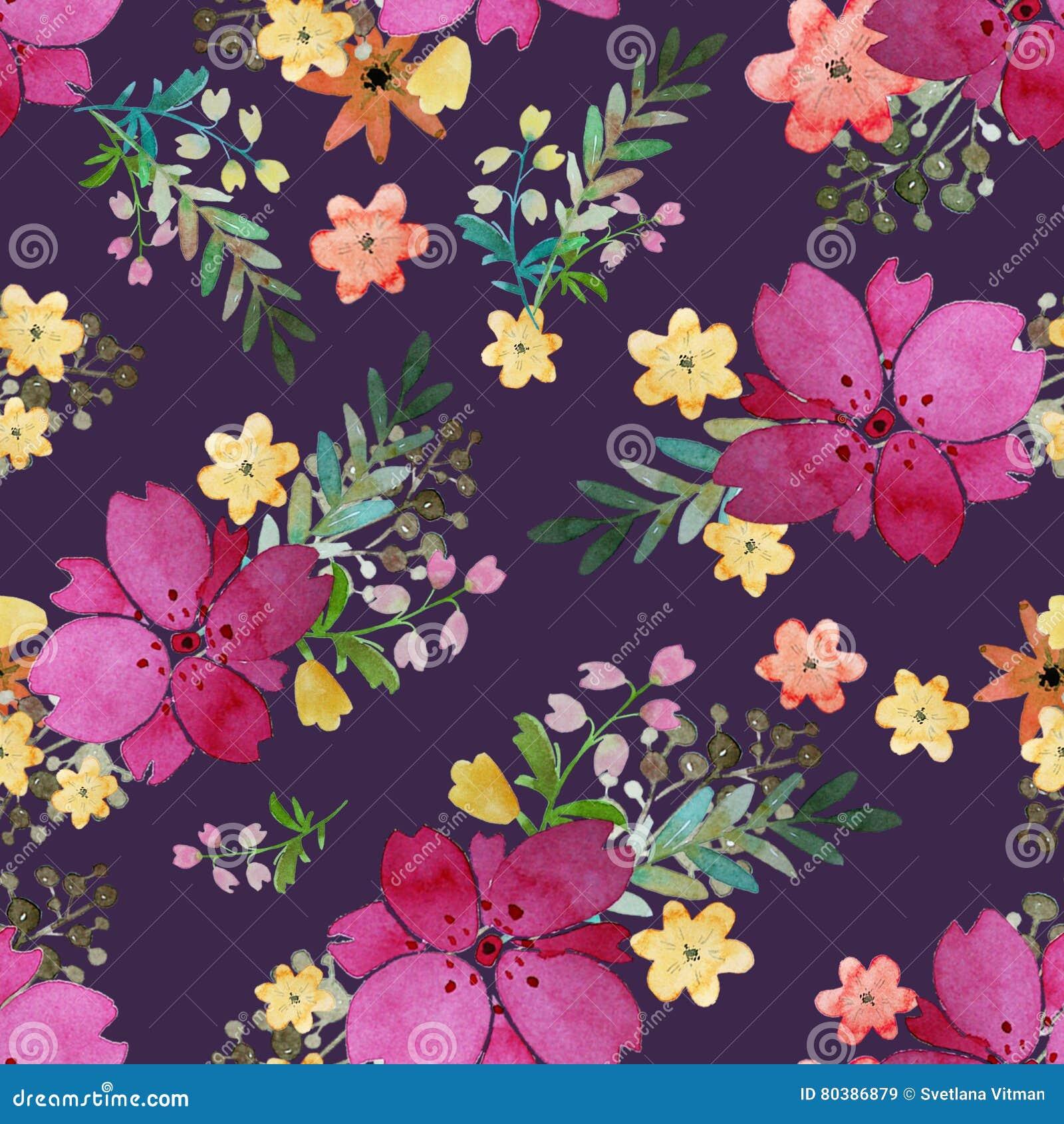 Geliefde Romantisch Bloemen Naadloos Patroon Met Roze Bloemen En Blad Druk #MN69