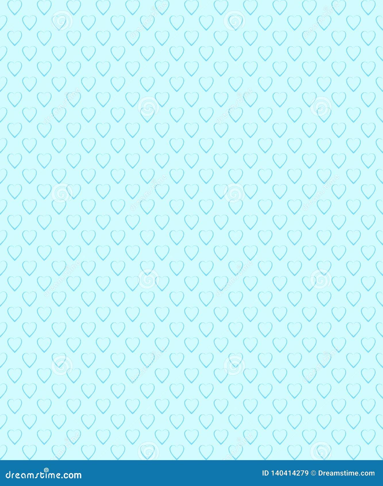 Romantisch naadloos patroon Patroon met hartvorm