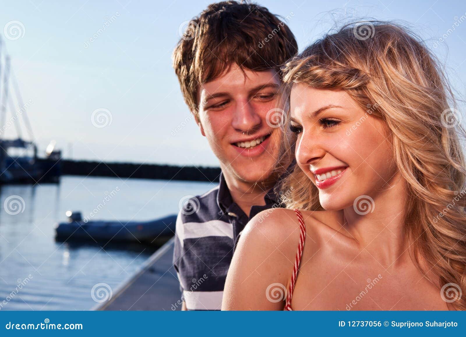 Romantisch paar in liefde