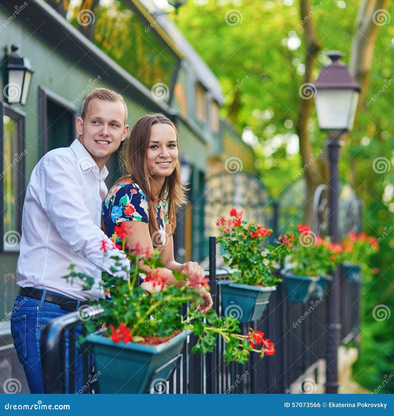 Romantisch paar op Montmartre