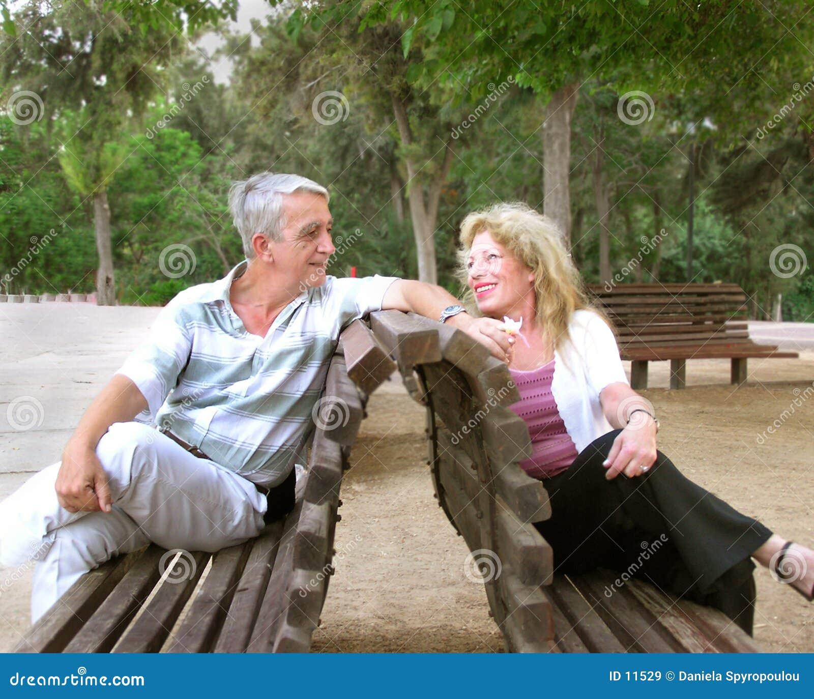 Romantisch rijp paar