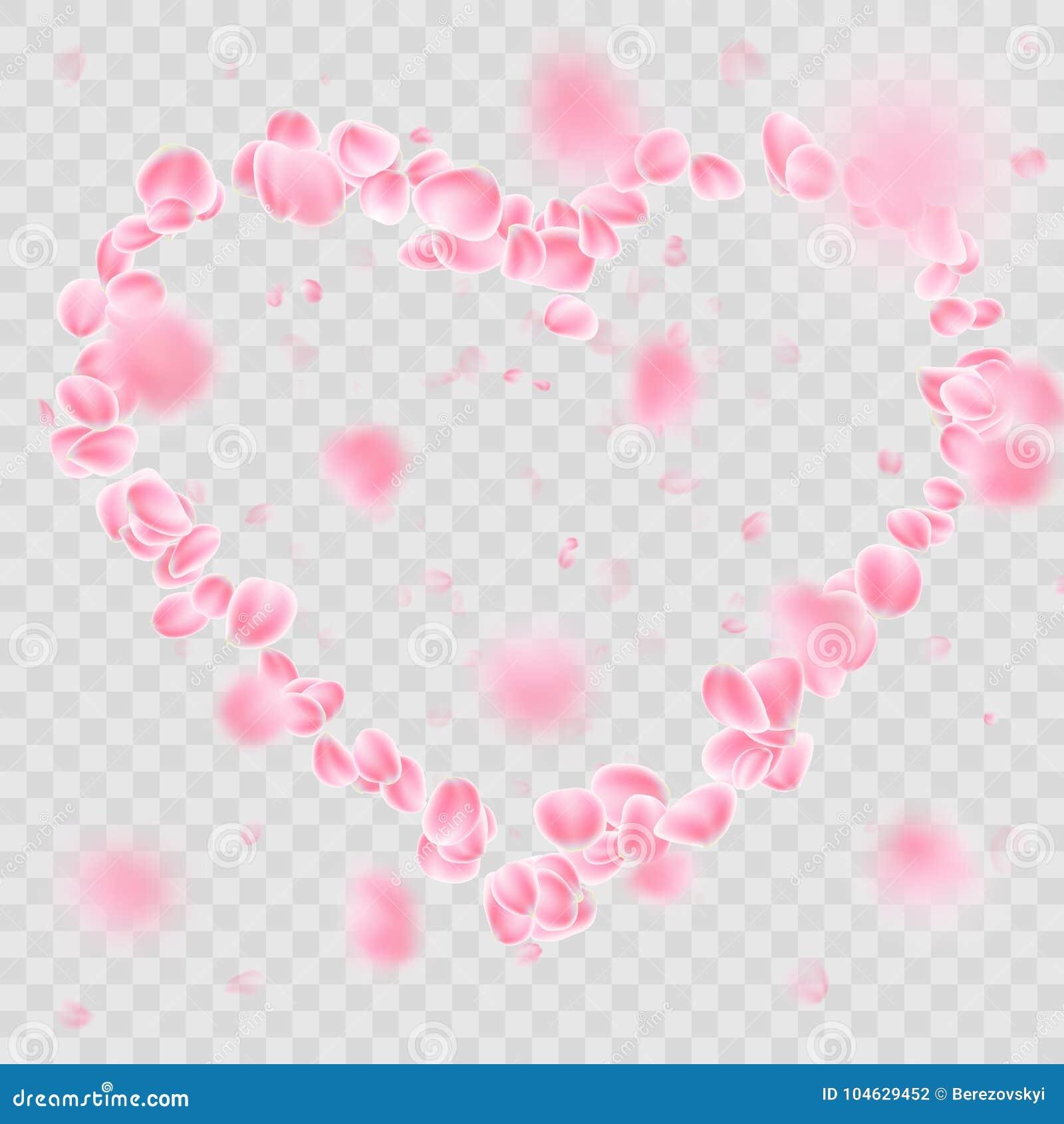 Download Romantische Dalende Het Hartvorm Van Bloembloemblaadjes EPS 10 Vector Vector Illustratie - Illustratie bestaande uit falling, bloem: 104629452