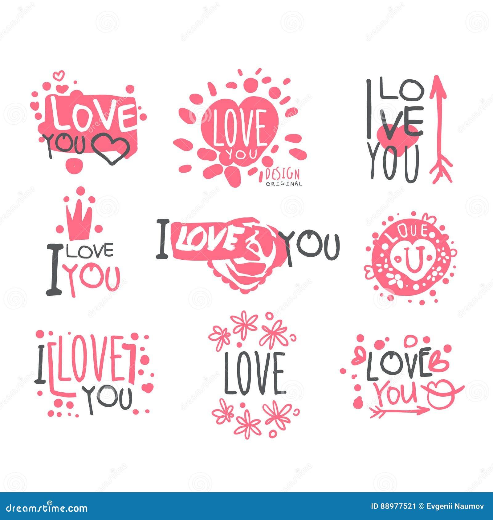 Romantische Ich Liebe Dich Mitteilung Für St.-Valentinsgruß ...