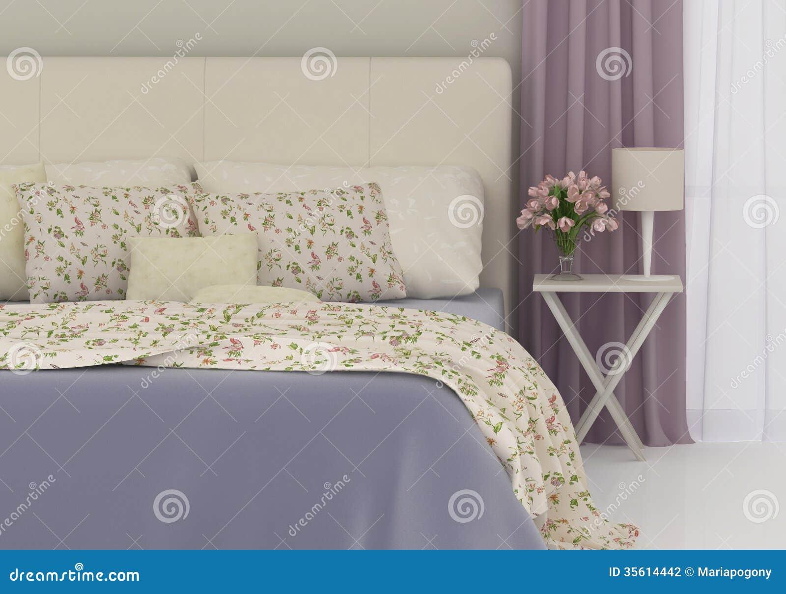 Romantische slaapkamer stock fotografie   afbeelding: 35614442