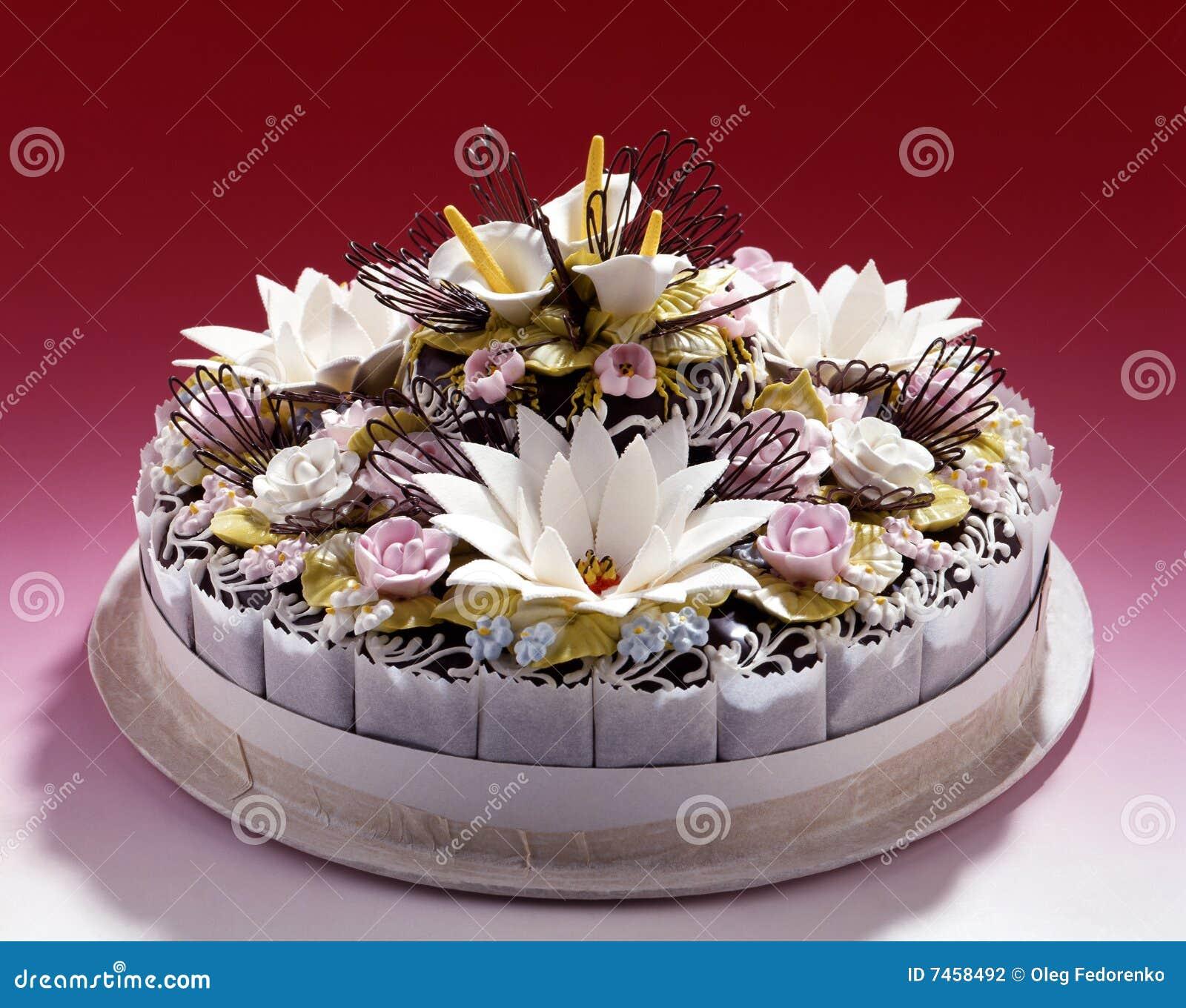 Romantischer Schoner Kuchen Stockfoto Bild Von Nachtisch Kakao