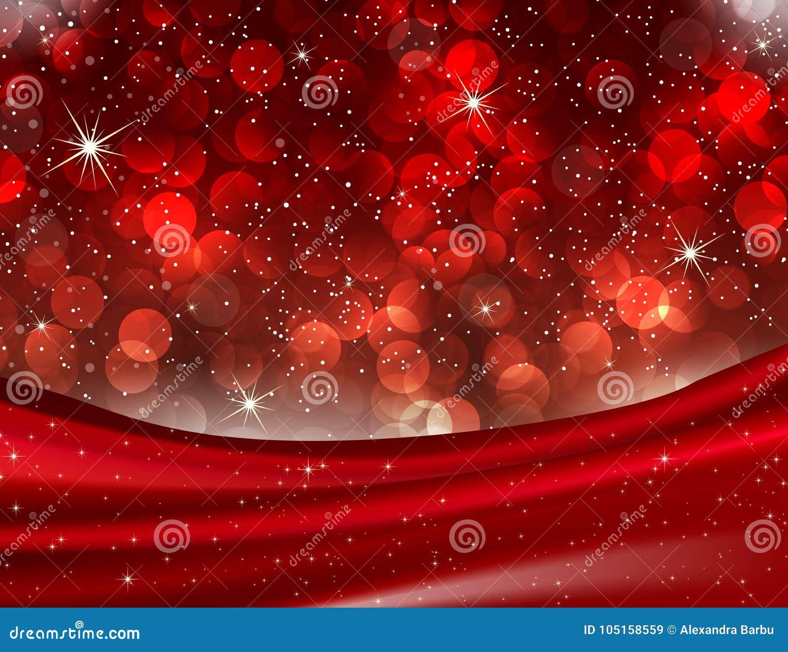 Romantischer Valentine Red Bokeh beleuchtet eleganten Liebes-Hintergrund
