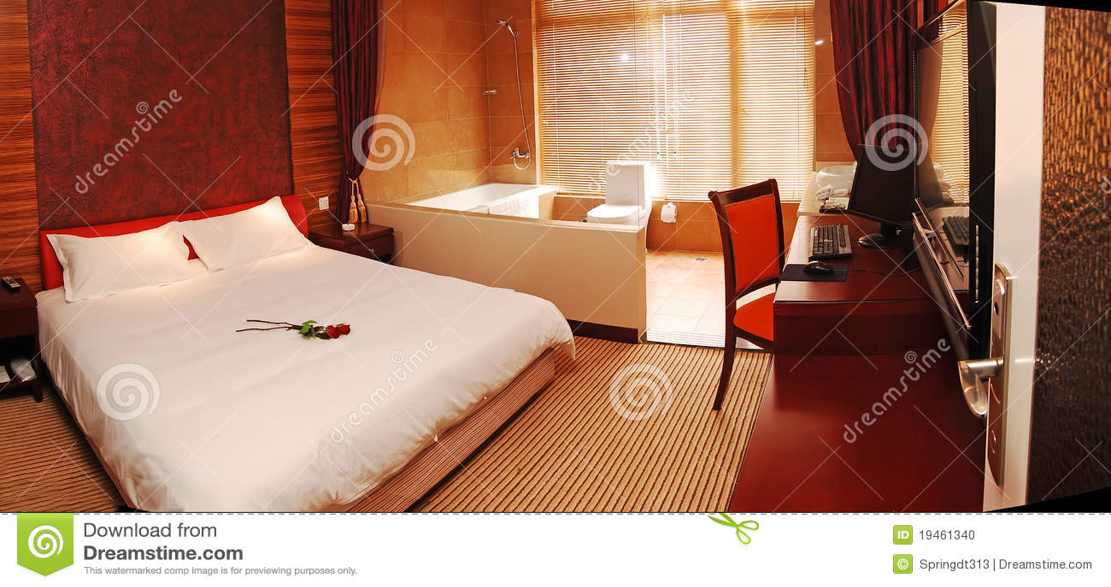 Romantisches Schlafzimmer Stockfoto - Bild: 19461340