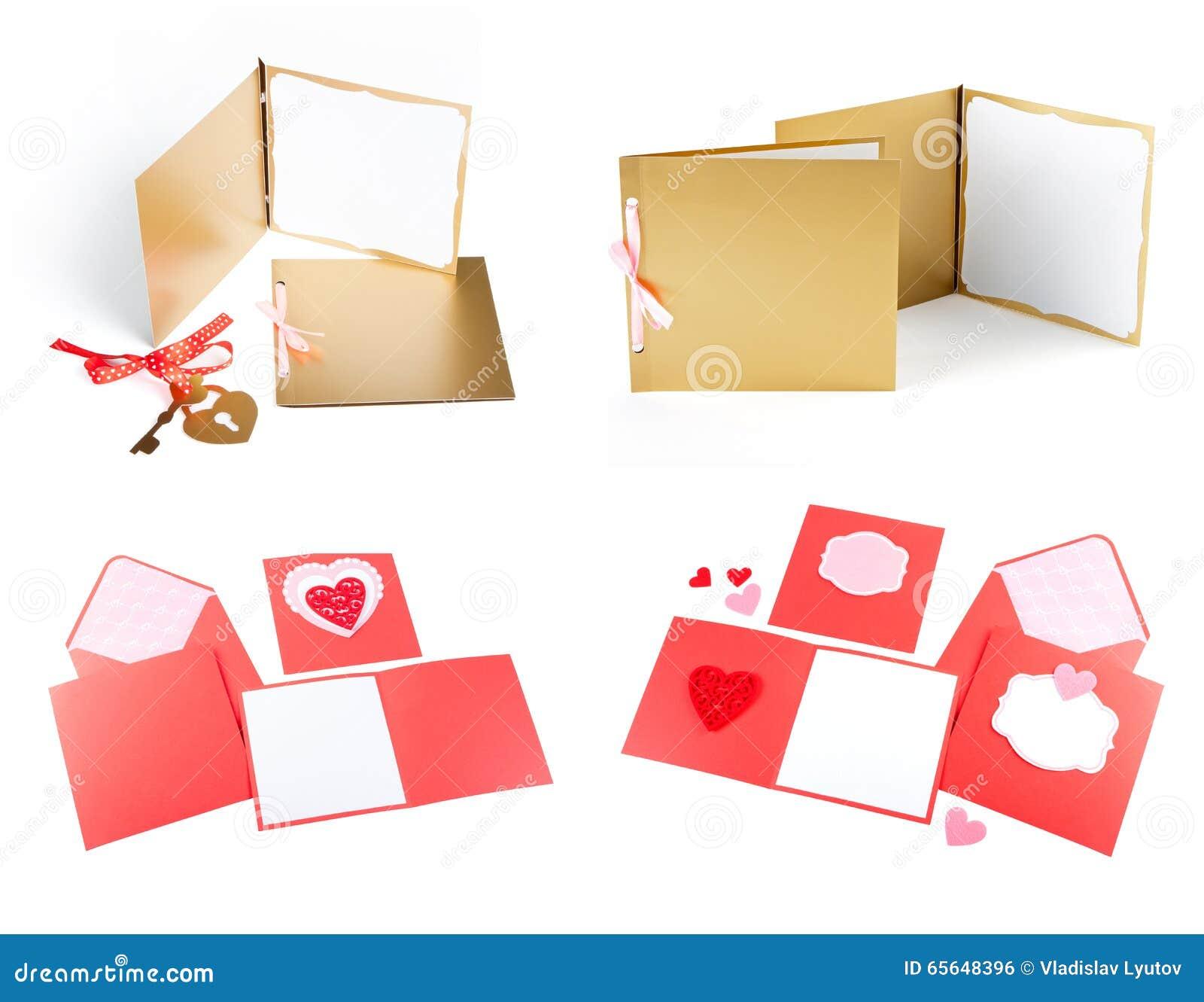 Romantisk designuppsättning Att att användas för vykort inbjudningar, kort