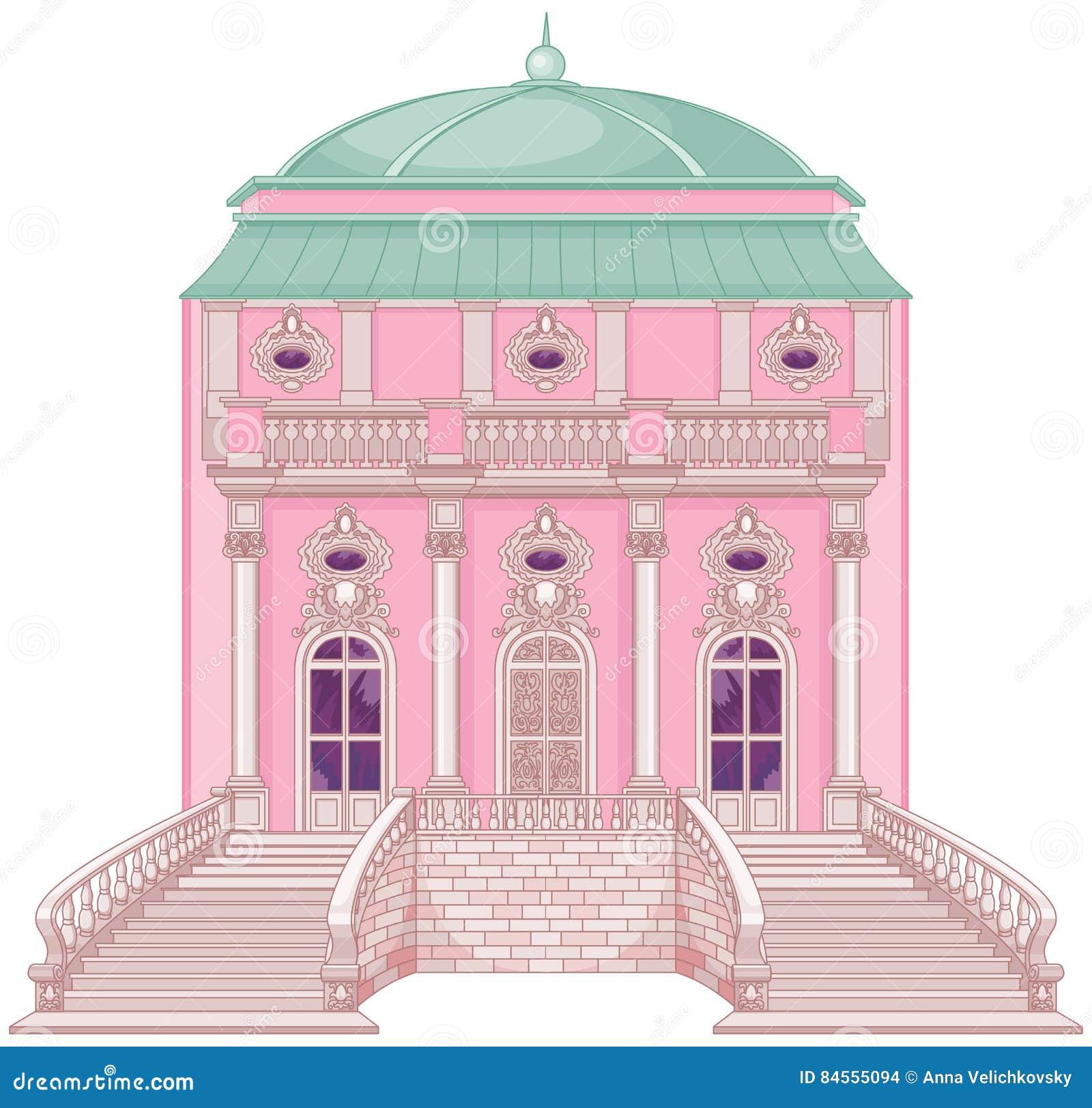 Romantisk slott för en prinsessa