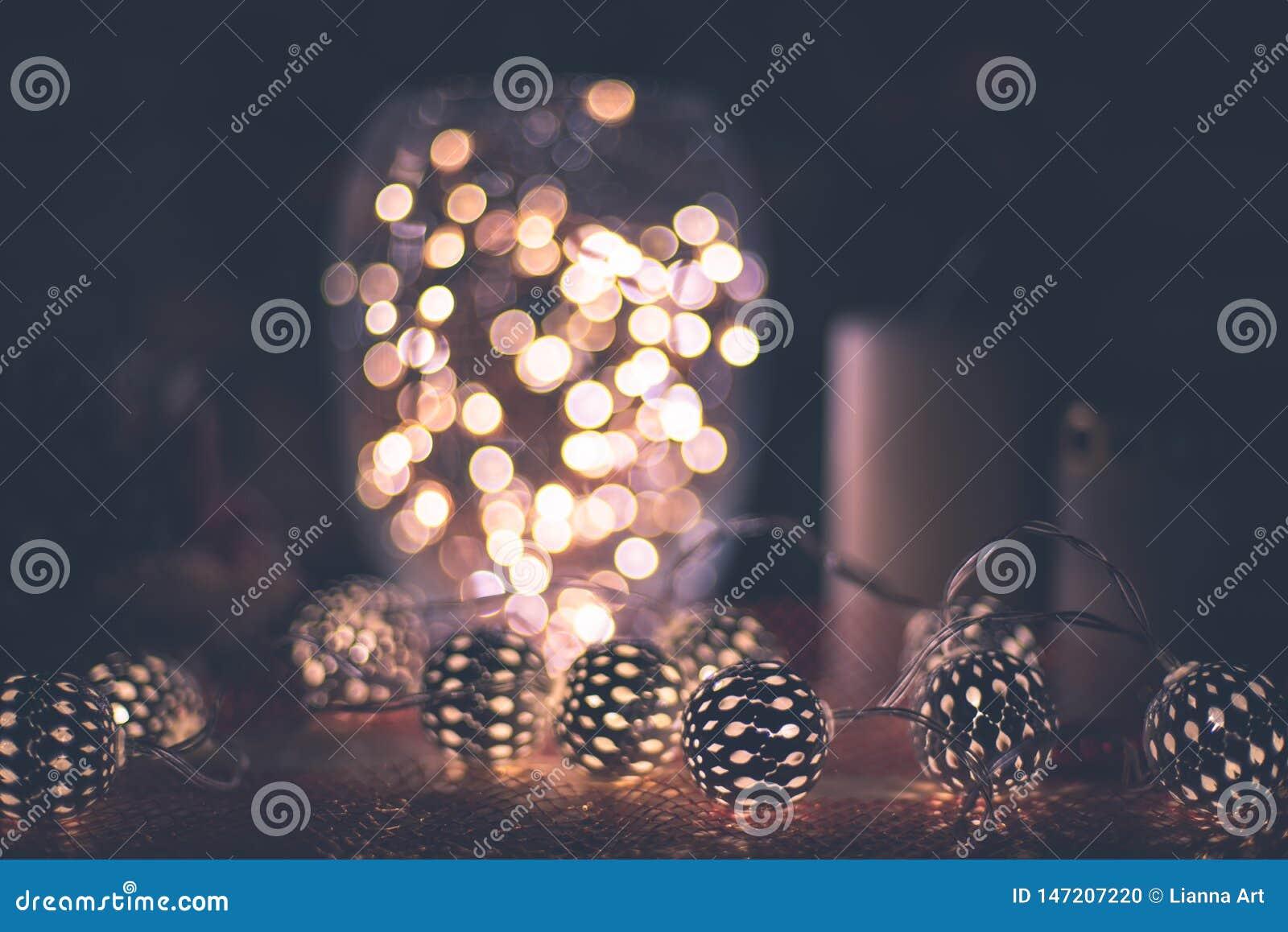 Romantisk vinter och nytt års garnering för stilinre