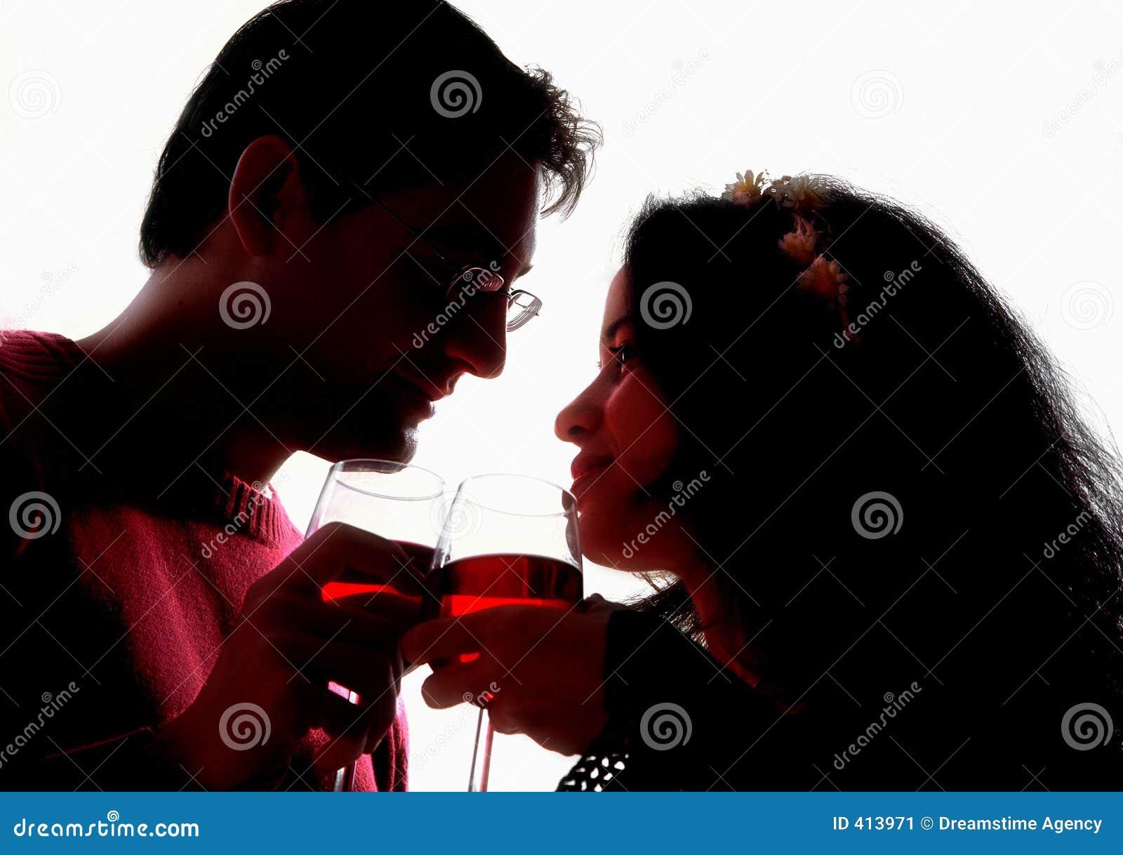 Romantiska silhouettes