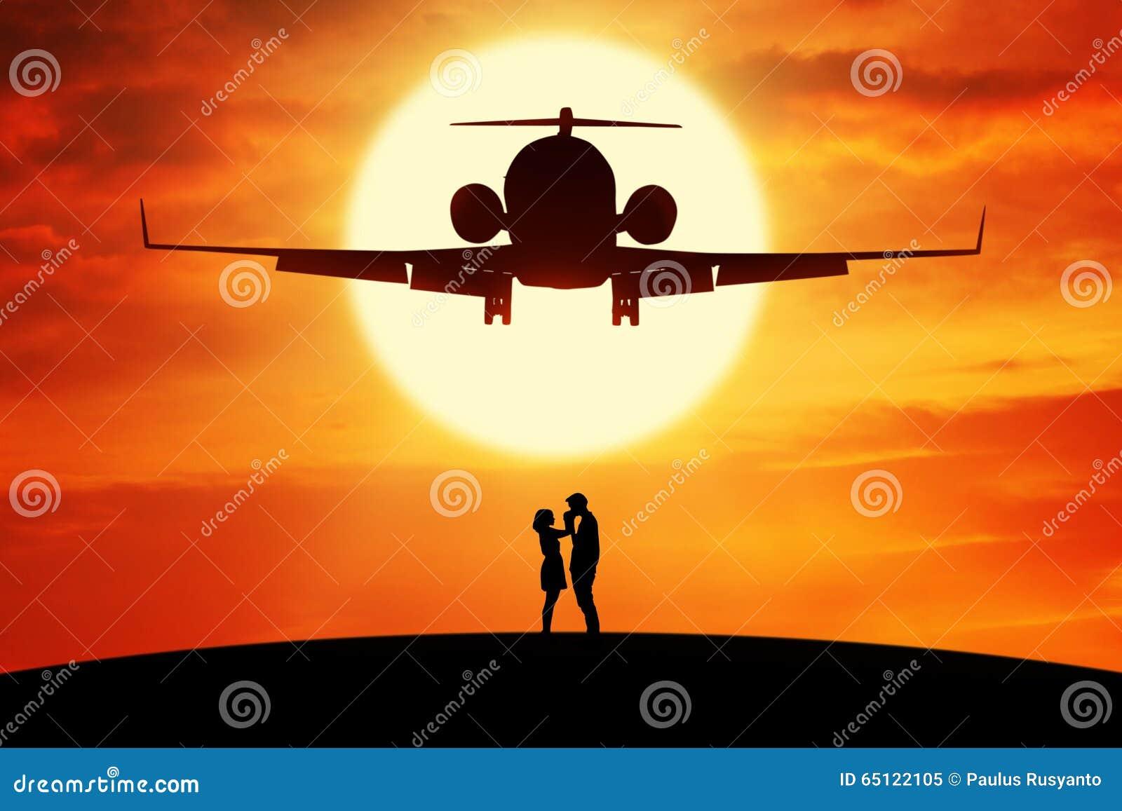 Romantiskt paranseende under flygflygplan