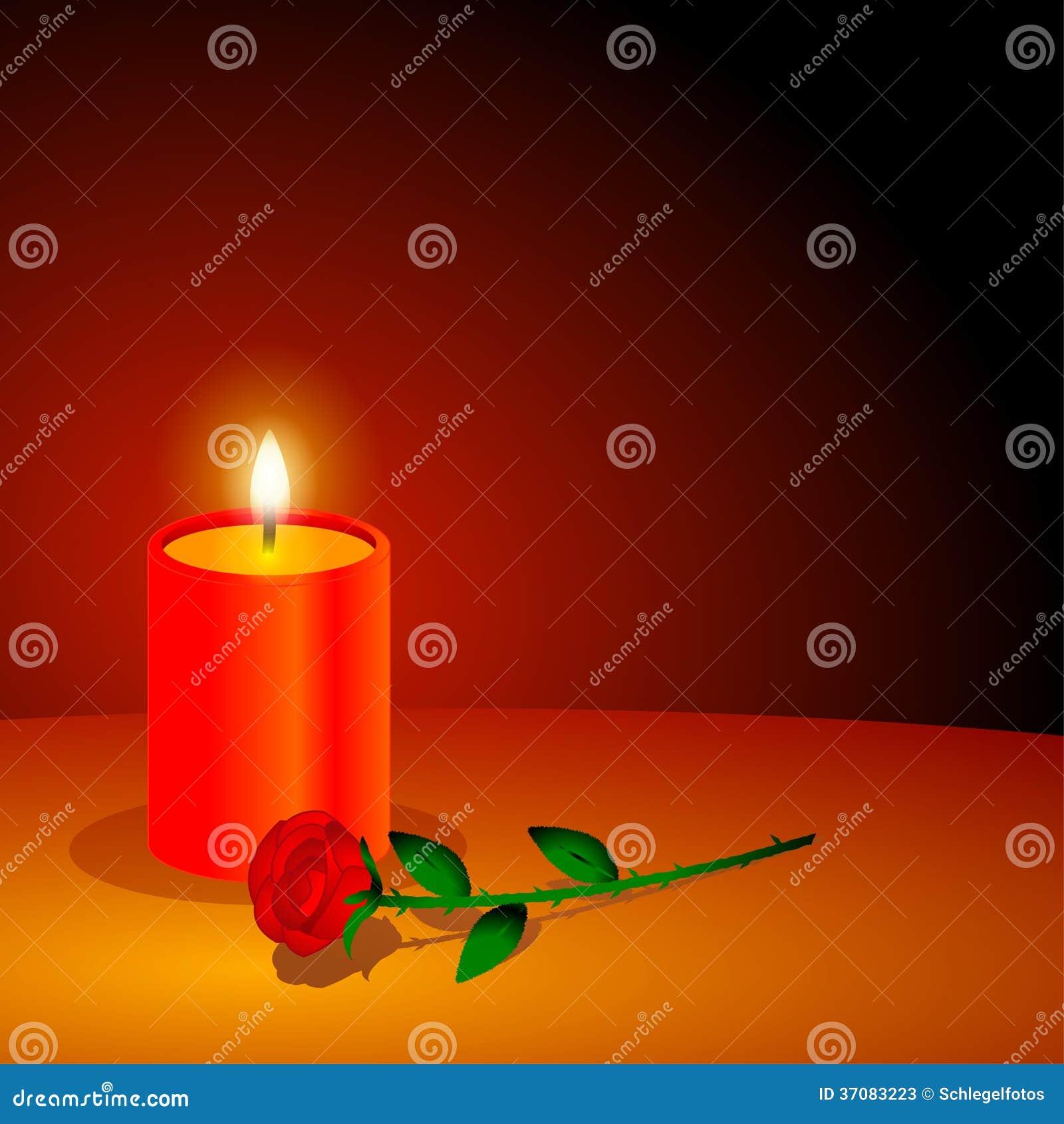 Download Romantyczna Miłości świeczka Ilustracji - Ilustracja złożonej z świeczka, zmrok: 37083223