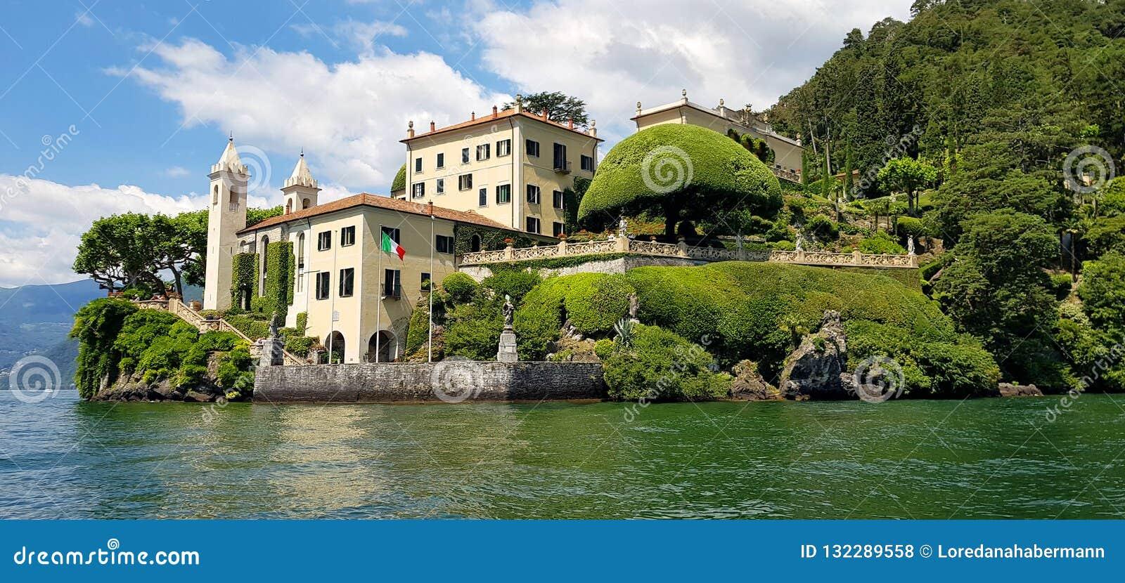 Romantyczna Willa Del Balbianello, Lago Di Como, Lombardia, Włochy